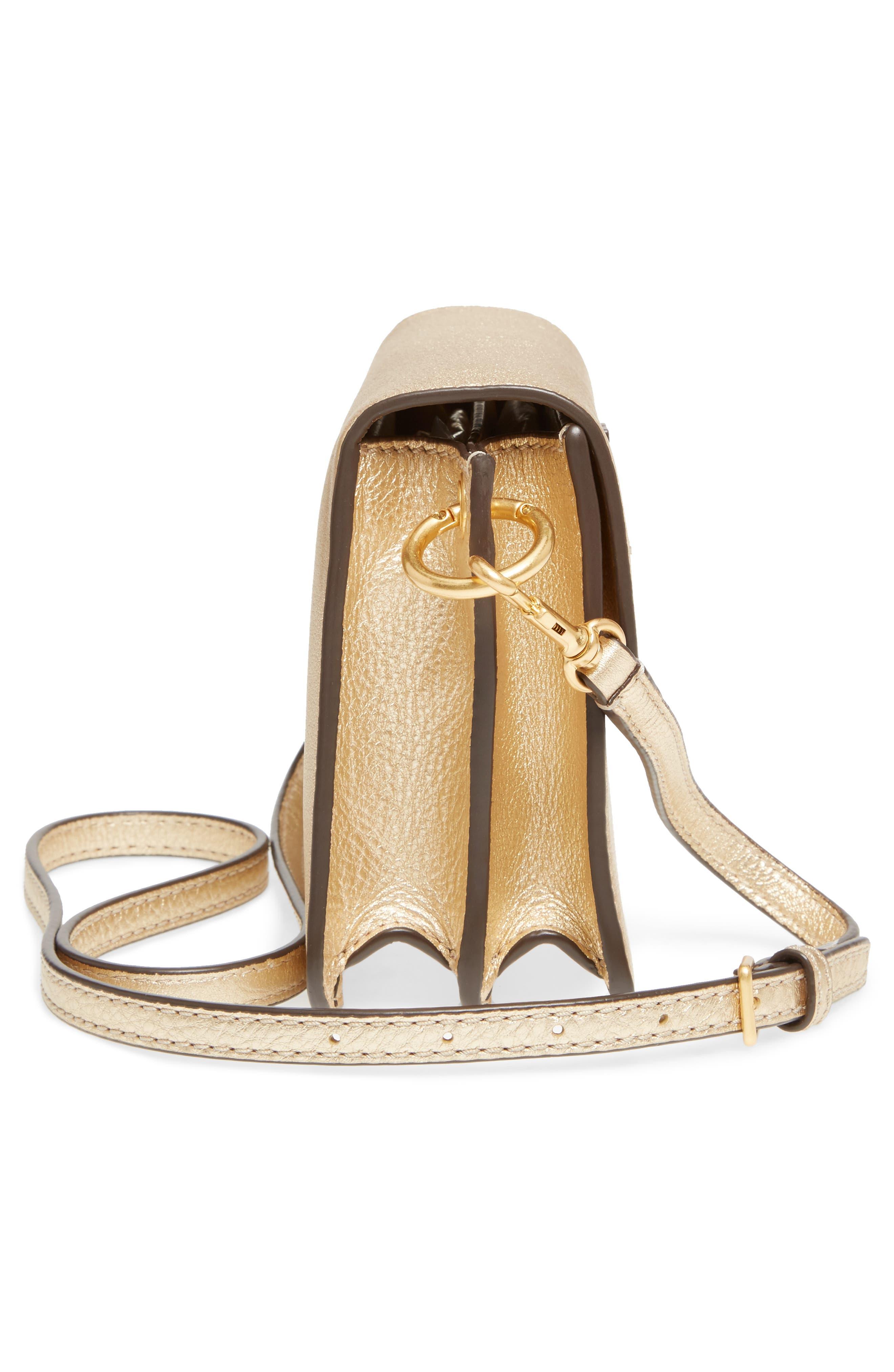 McGraw Metallic Leather Shoulder Bag,                             Alternate thumbnail 5, color,