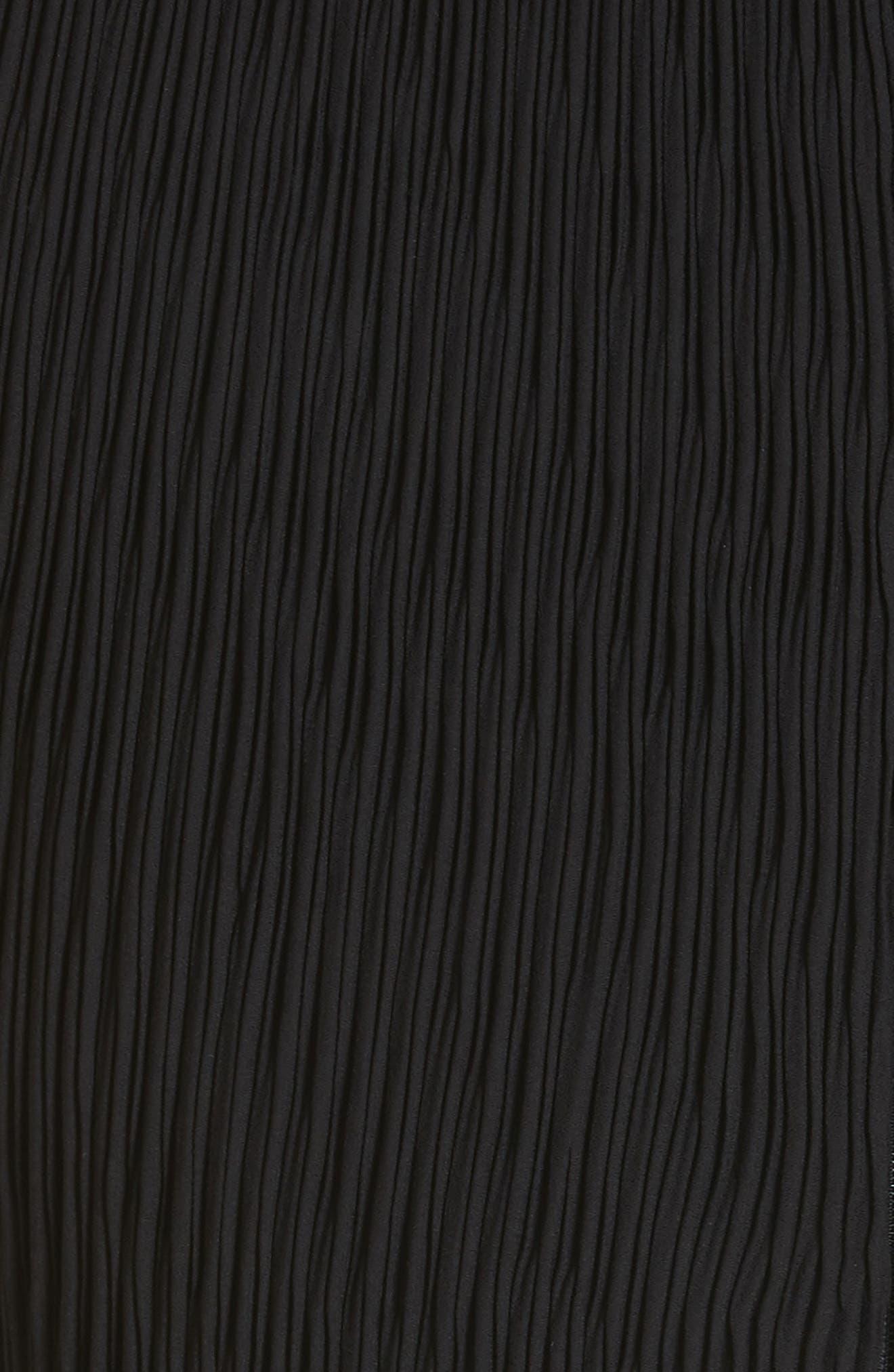Milda Crystal Pleat Dress,                             Alternate thumbnail 5, color,                             010