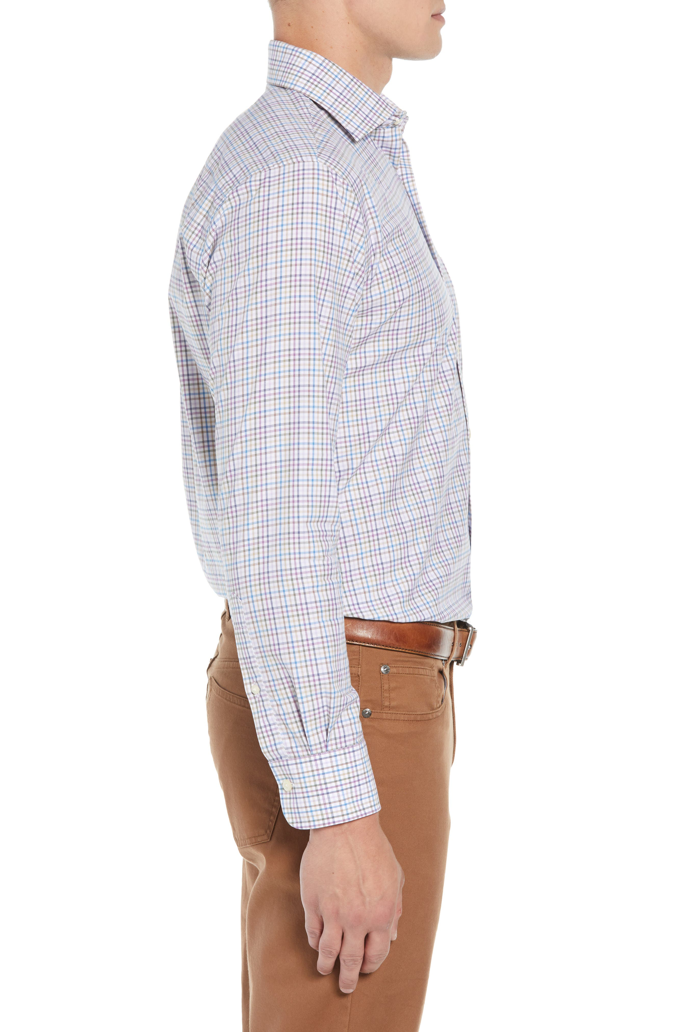 Whittier Heights Check Sport Shirt,                             Alternate thumbnail 4, color,                             BEET
