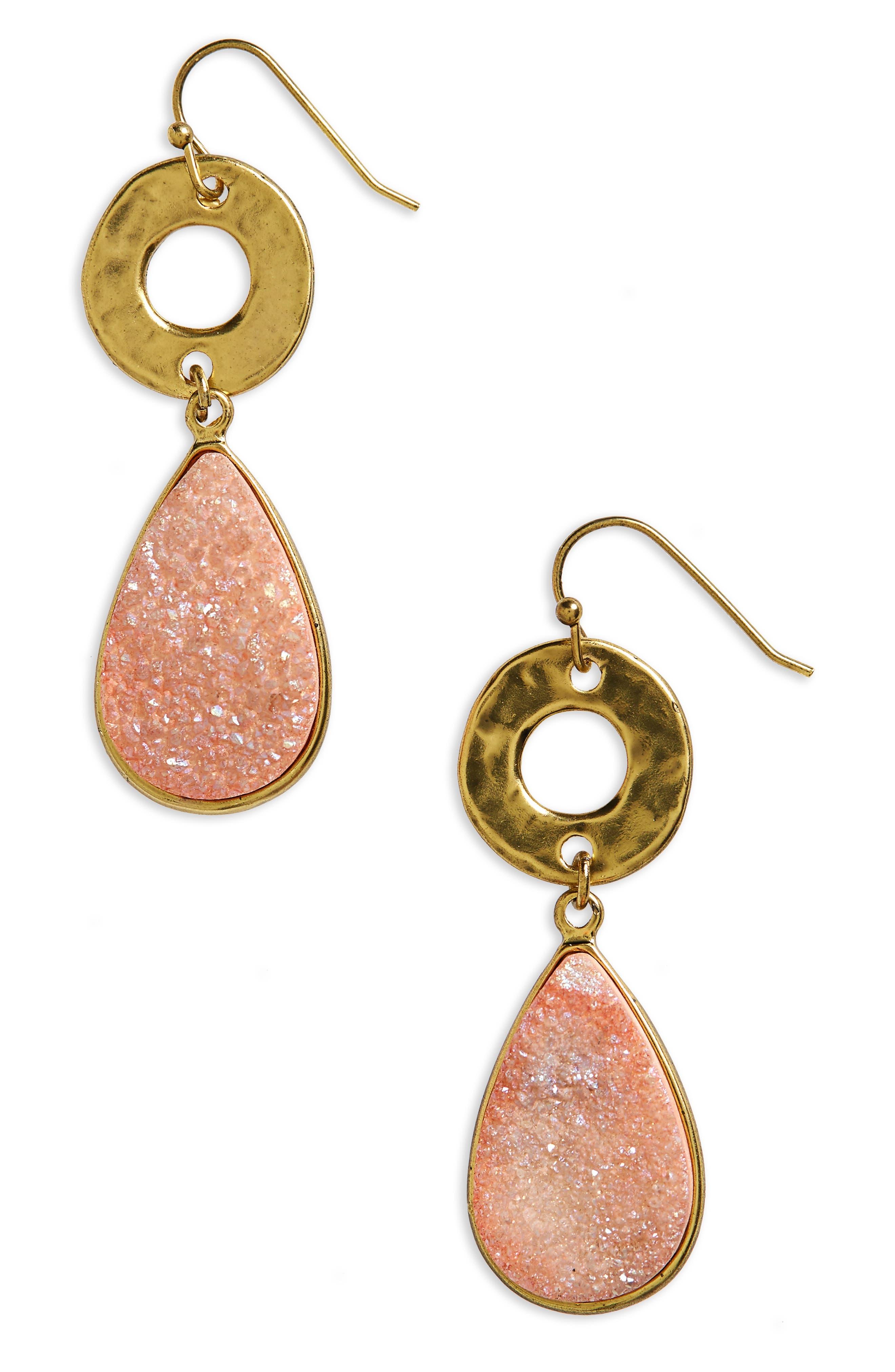 Drusy Drop Earrings,                             Main thumbnail 3, color,