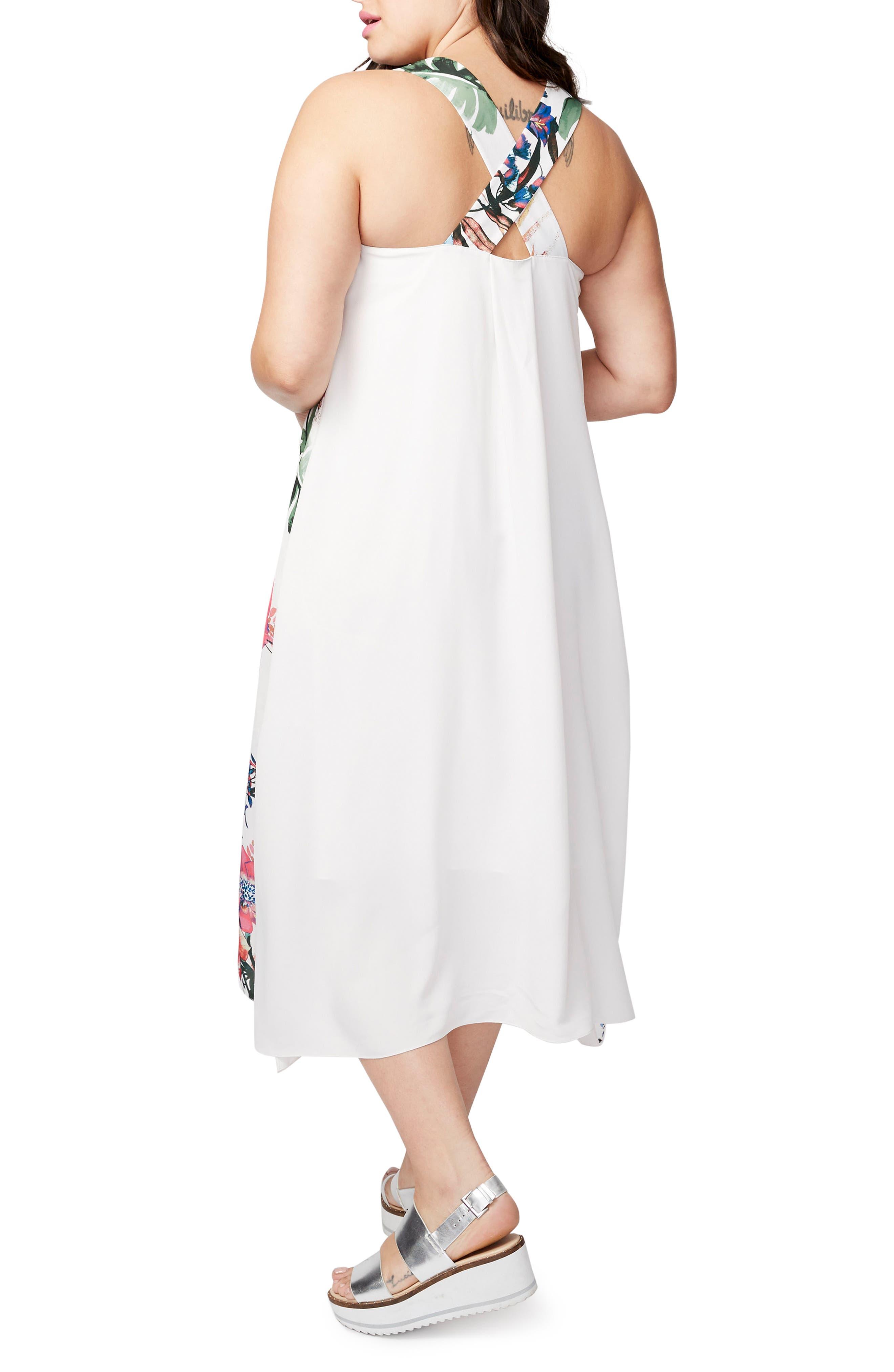 Print Maxi Dress,                             Alternate thumbnail 2, color,                             100