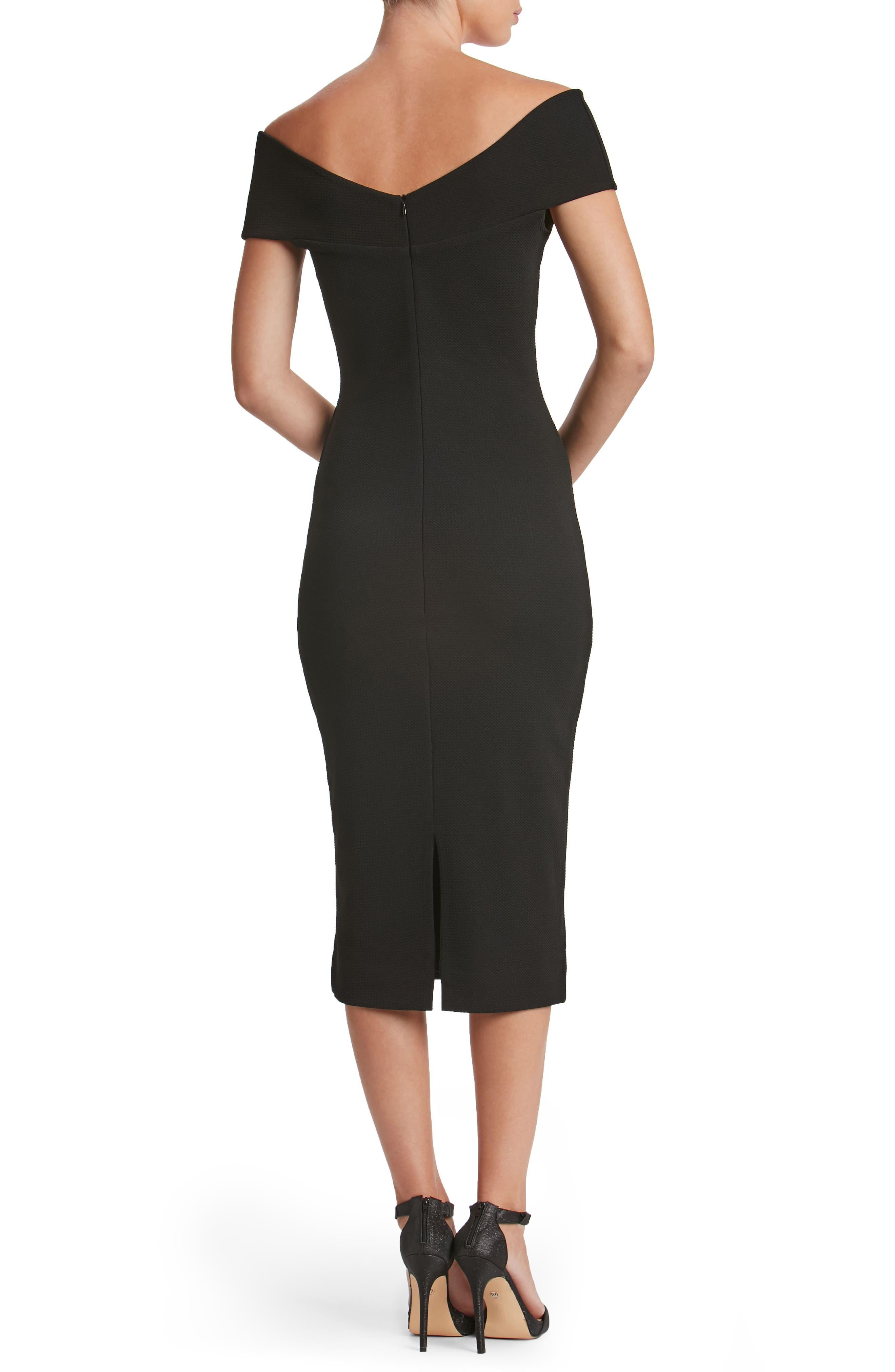Claudette Textured Dress,                             Alternate thumbnail 2, color,                             001