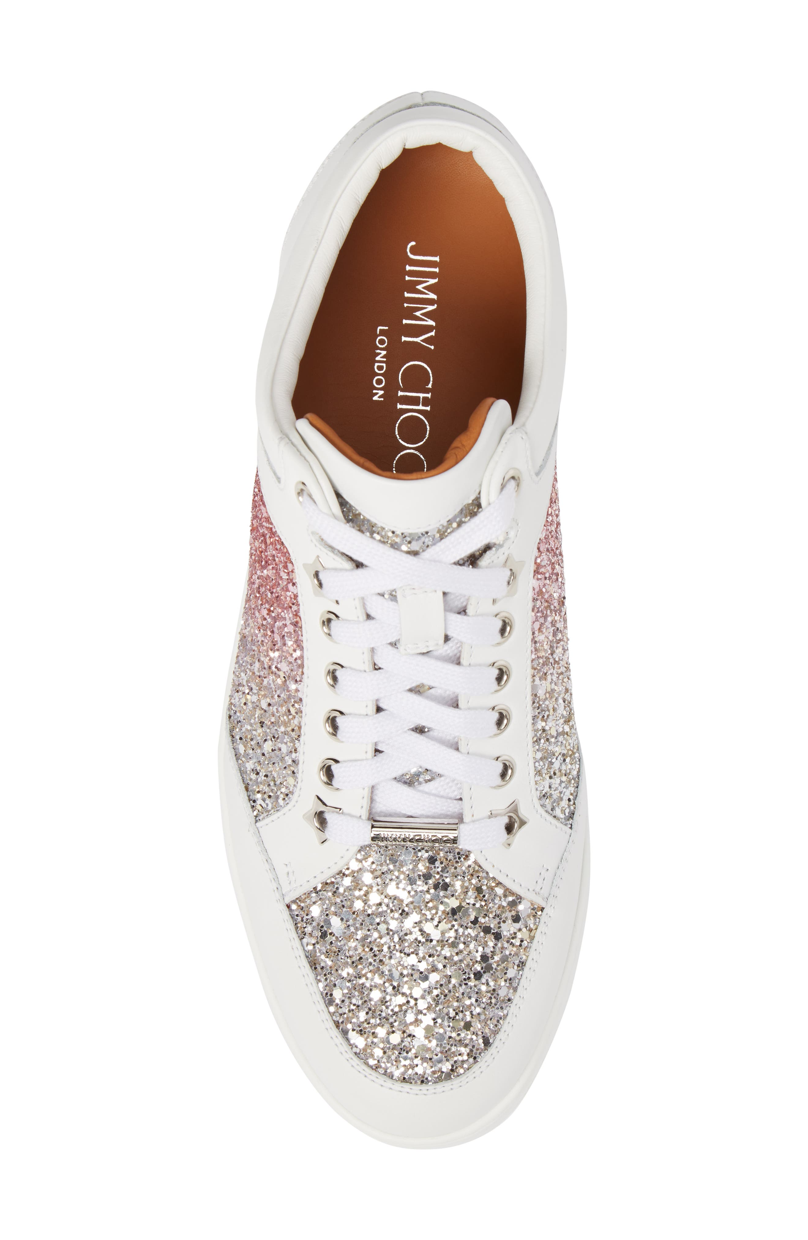 JIMMY CHOO,                             Miami Low Top Sneaker,                             Alternate thumbnail 5, color,                             650
