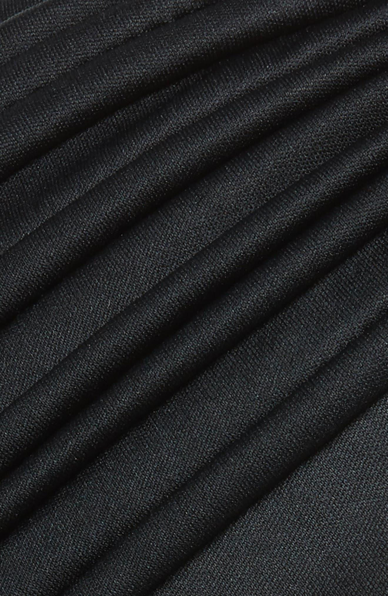 Pleated Turban,                             Alternate thumbnail 2, color,                             BLACK