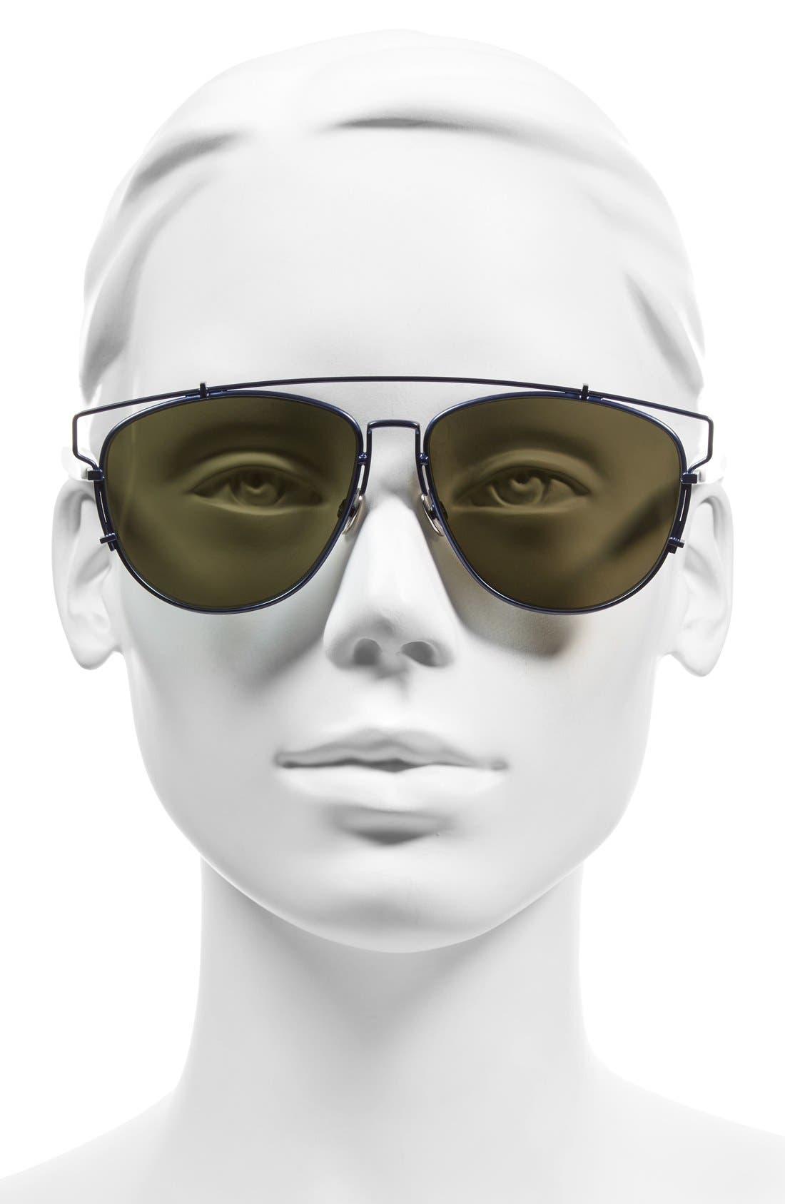 Technologic 57mm Brow Bar Sunglasses,                             Alternate thumbnail 24, color,