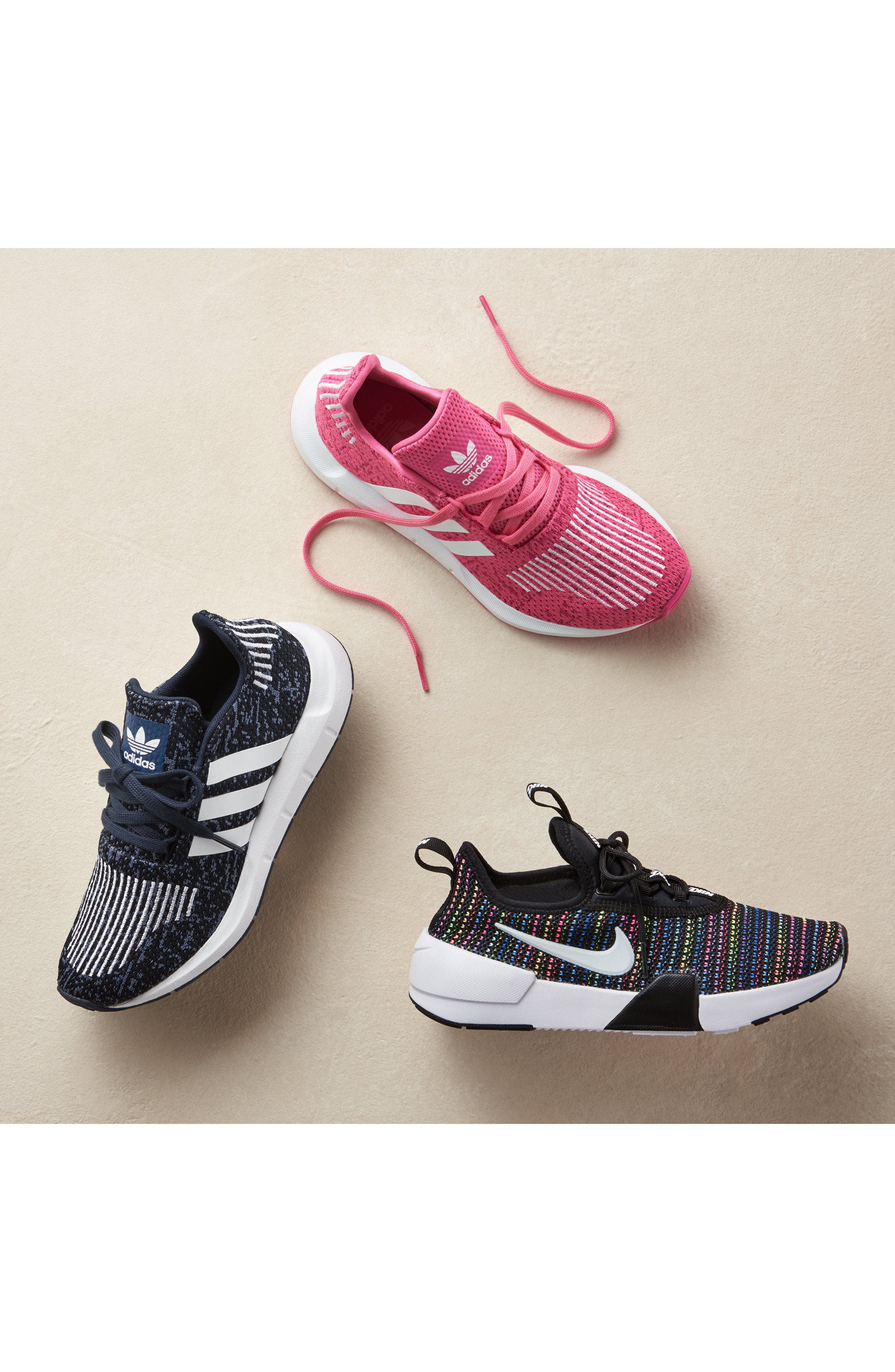 Swift Run J Sneaker,                             Alternate thumbnail 16, color,                             SEMI SOLAR PINK/ WHITE