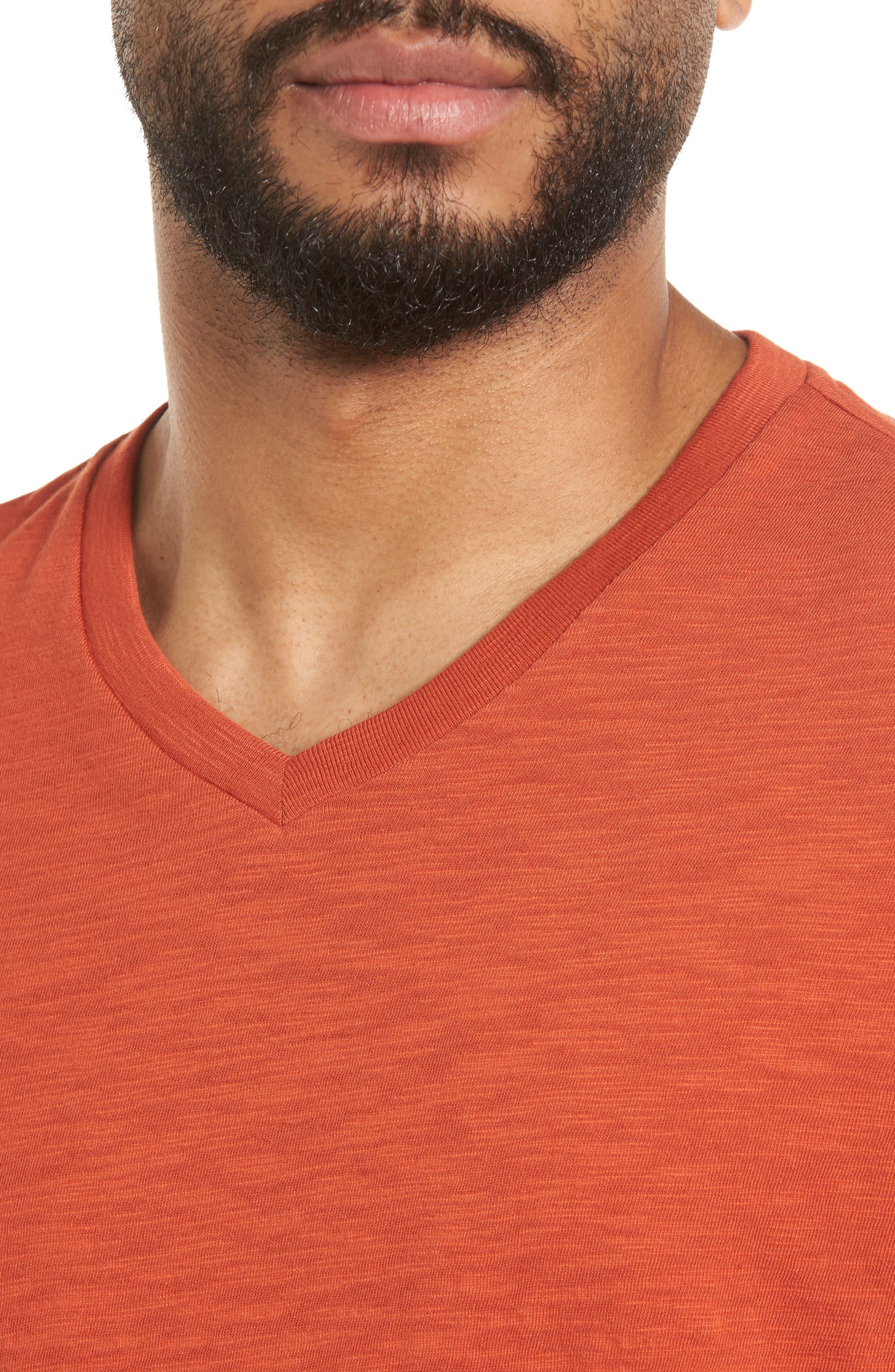 Slim Fit Slub V-Neck T-Shirt,                             Alternate thumbnail 8, color,