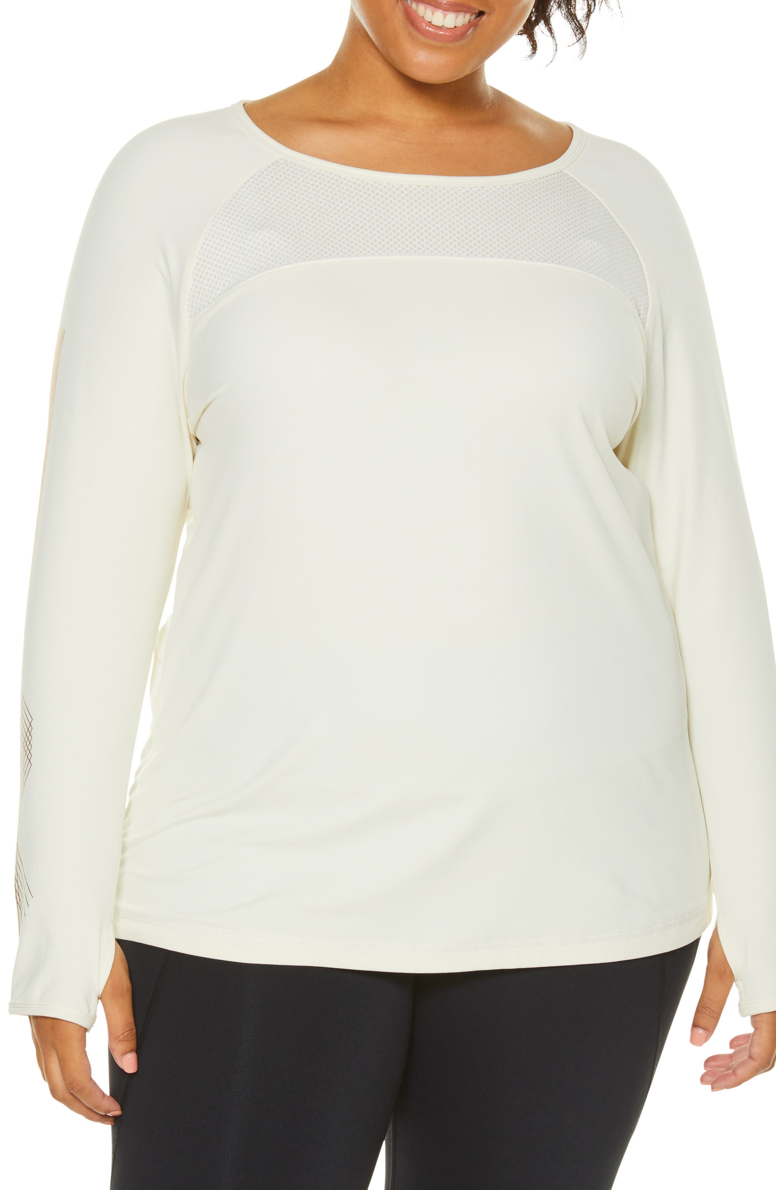 Integral Long Sleeve Tee,                         Main,                         color, PRISTINE
