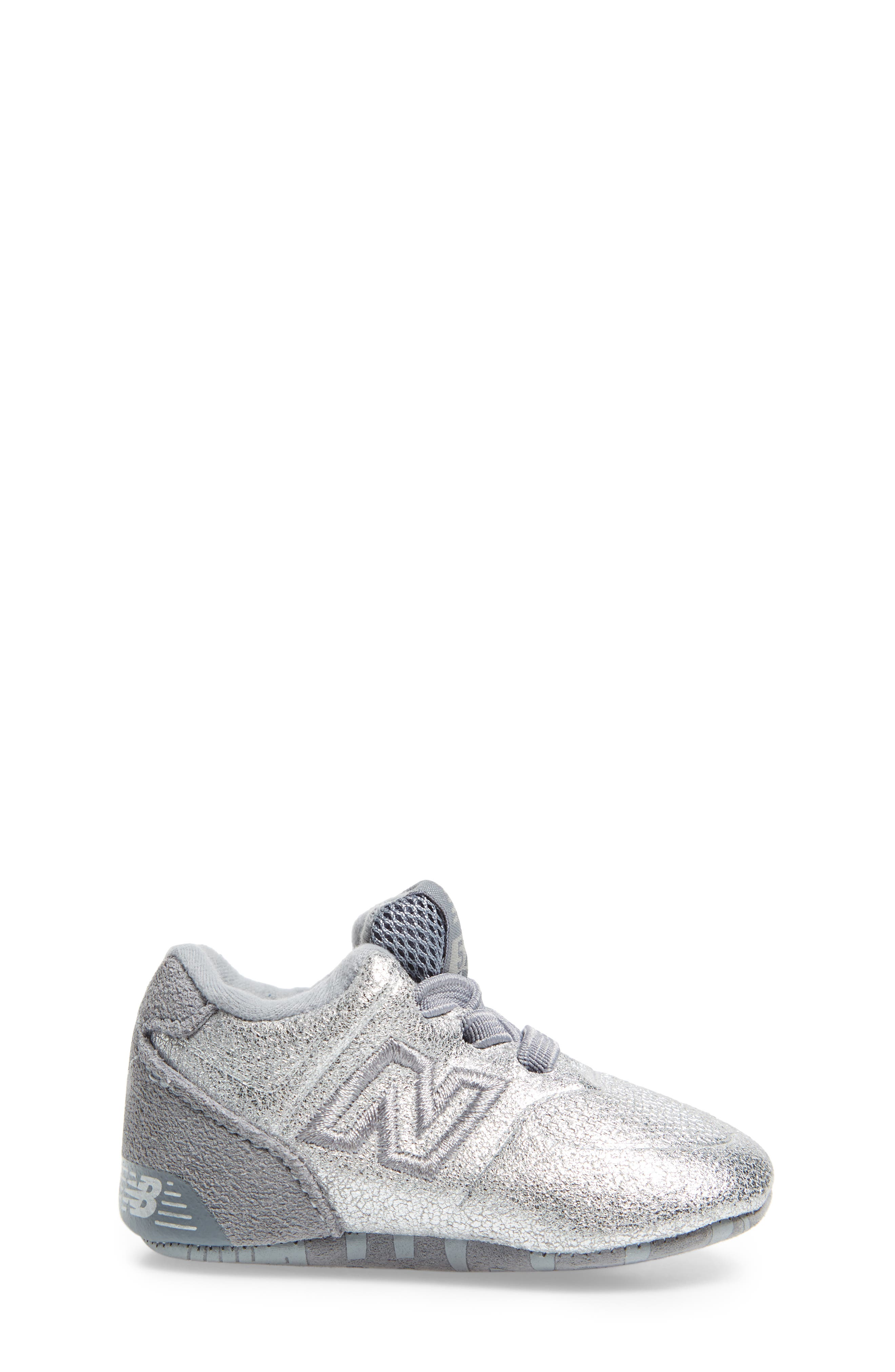 574 Metallic Crib Sneaker,                             Alternate thumbnail 3, color,                             040