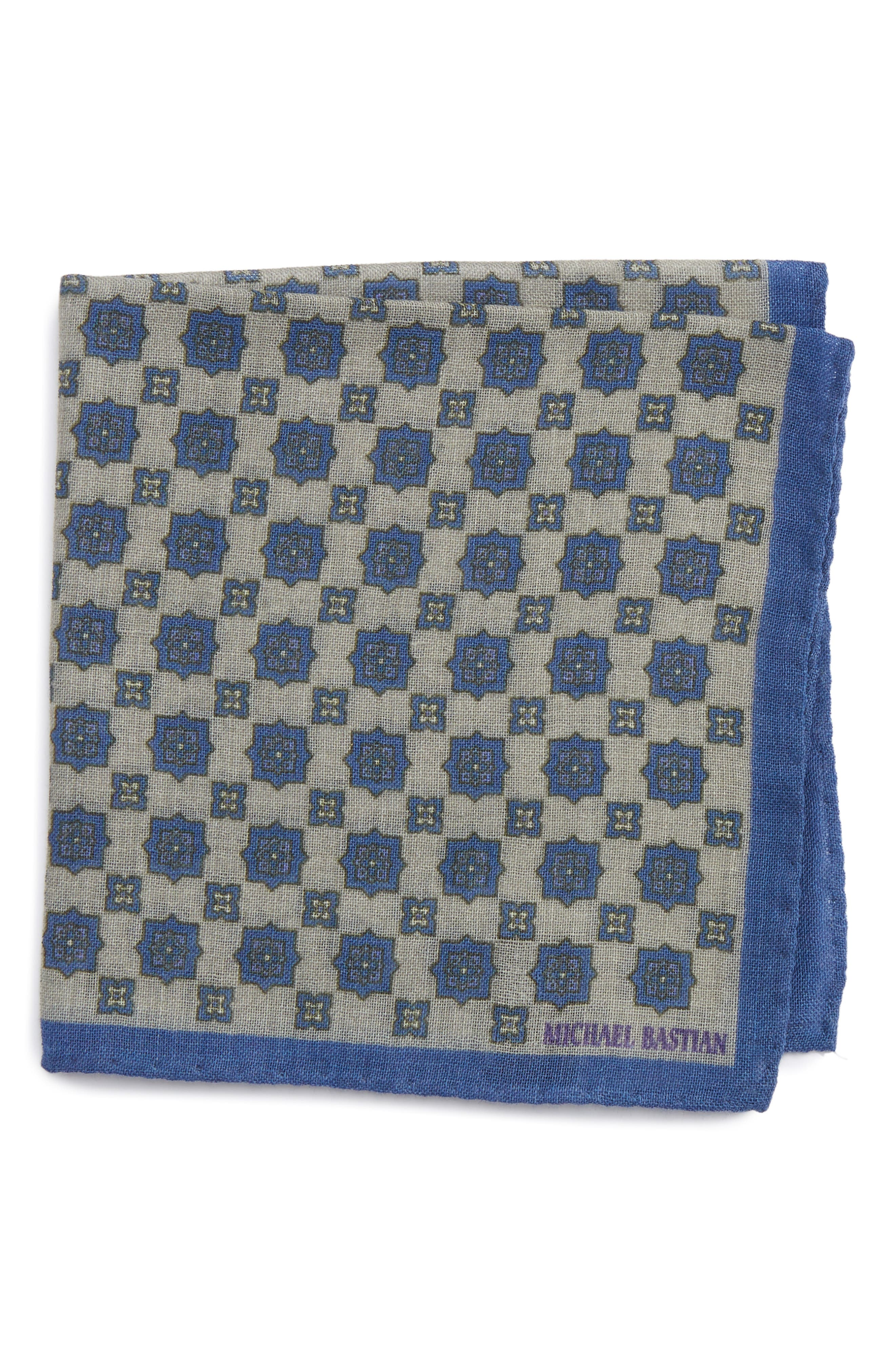 Medallion Pocket Square,                             Main thumbnail 1, color,
