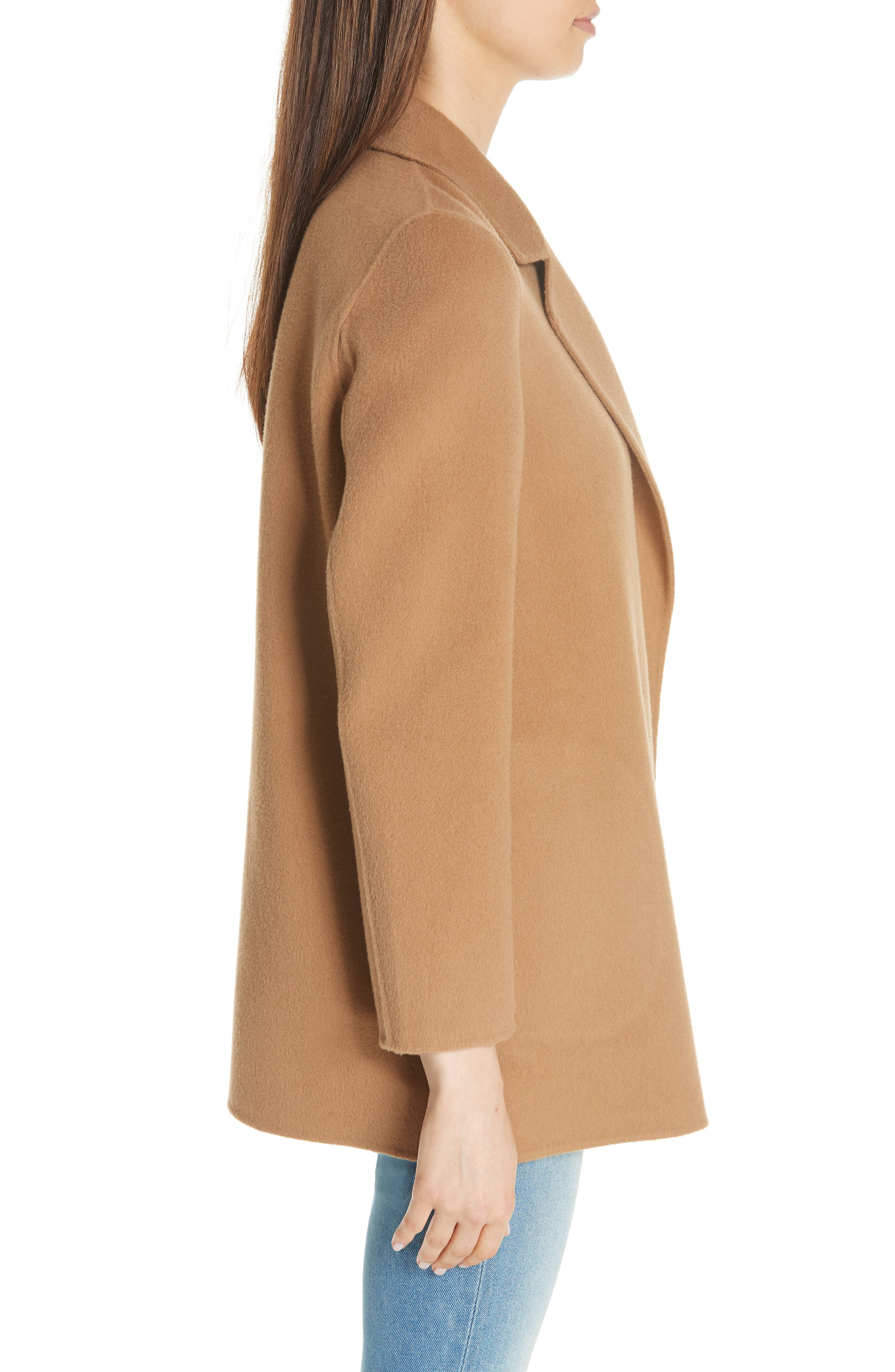 THEORY,                             Clairene New Divide Wool & Cashmere Coat,                             Alternate thumbnail 3, color,                             218