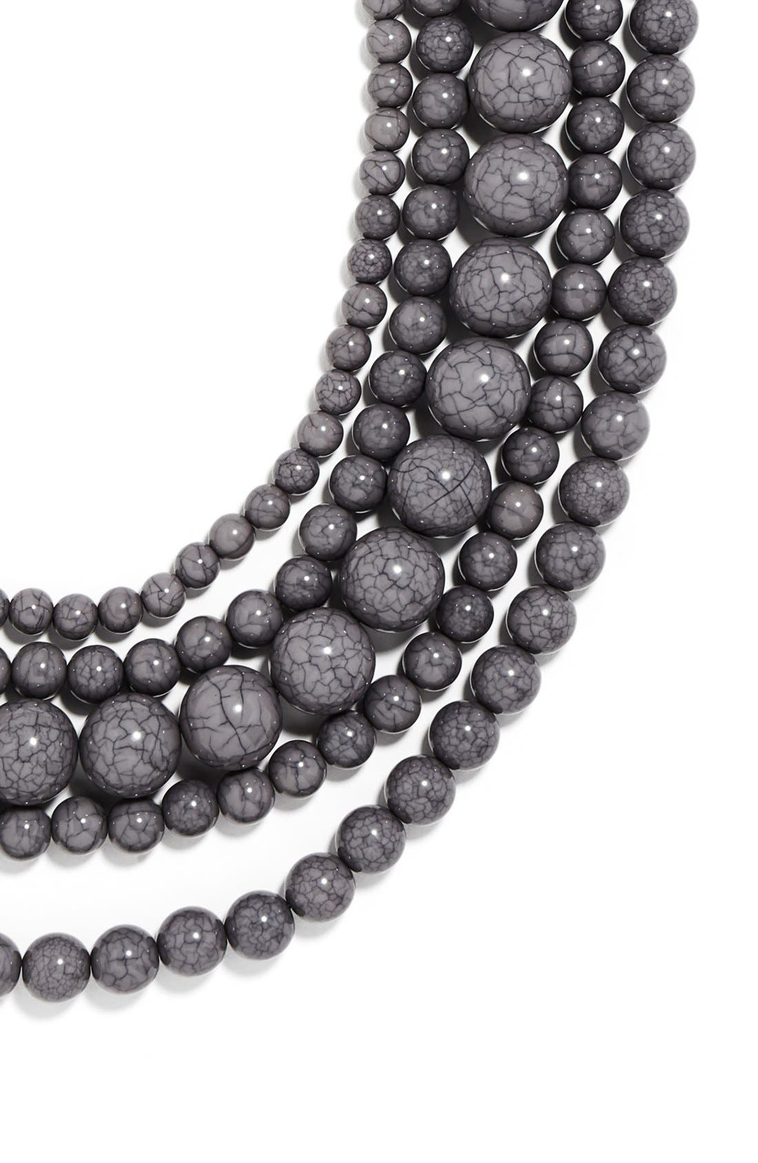 'Globe' Multistrand Beaded Necklace,                             Alternate thumbnail 3, color,                             021
