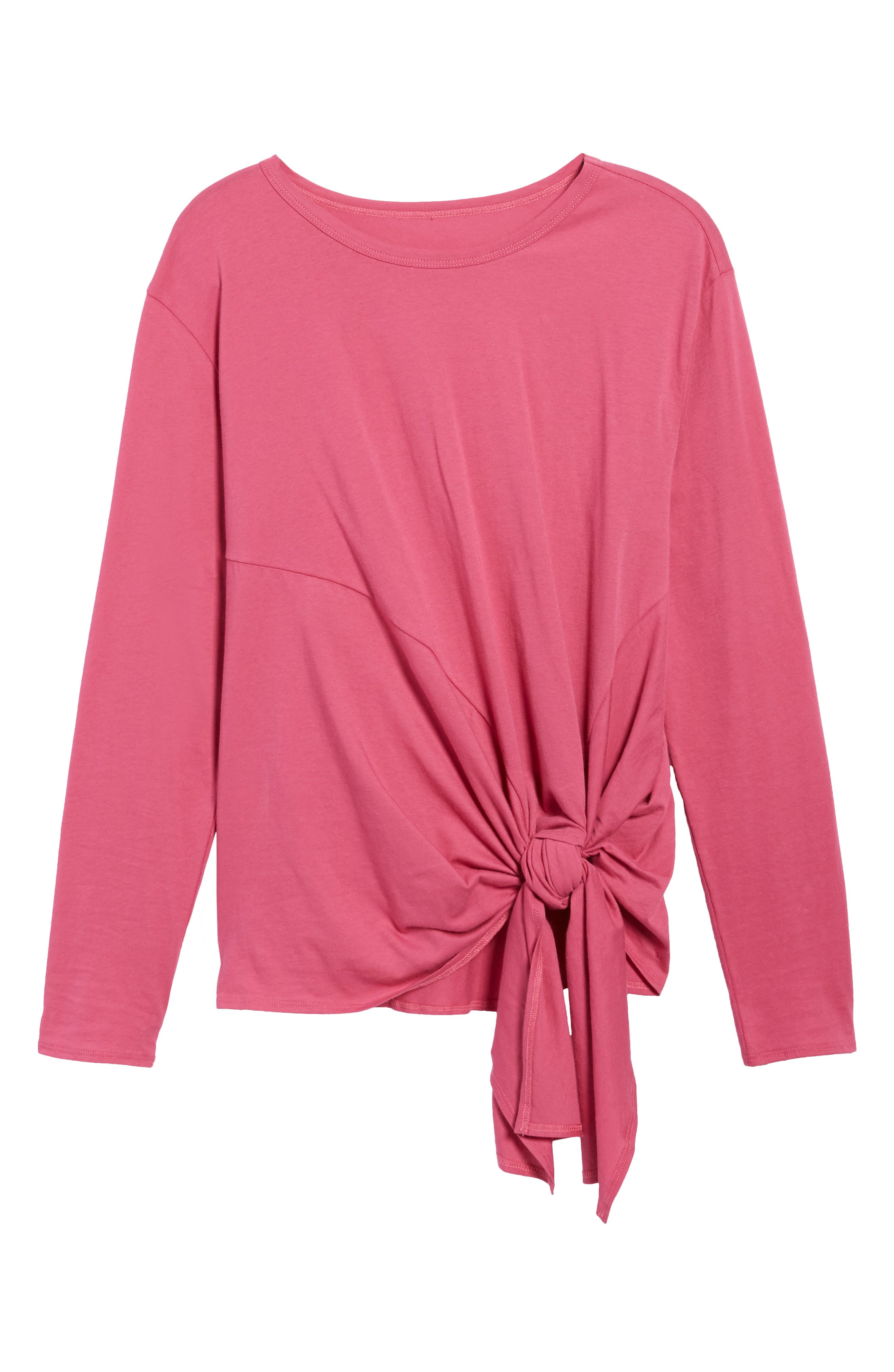 Long Sleeve Side Tie Tee,                             Alternate thumbnail 36, color,