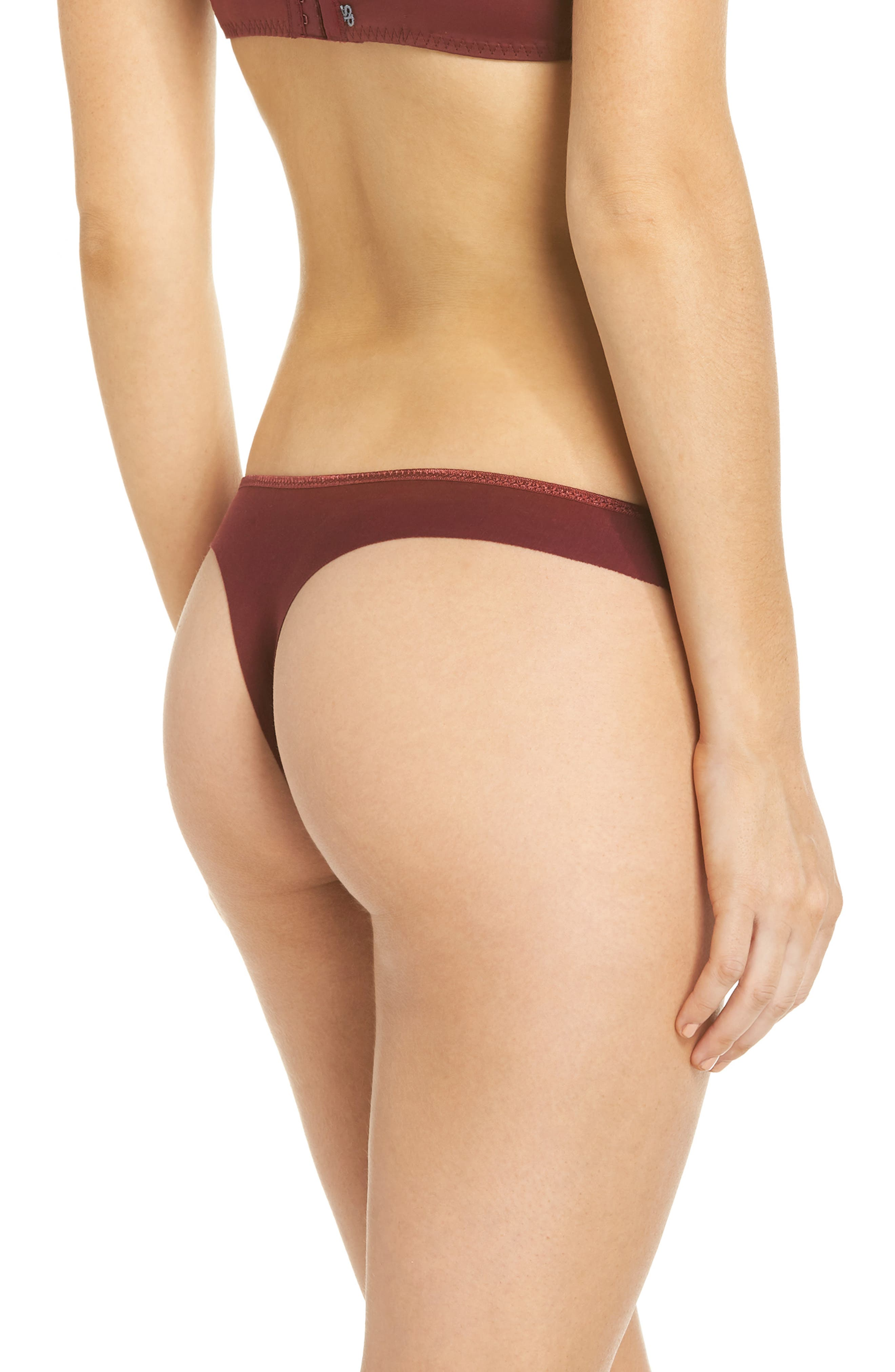 Andora Stretch Cotton Thong,                             Alternate thumbnail 2, color,                             939