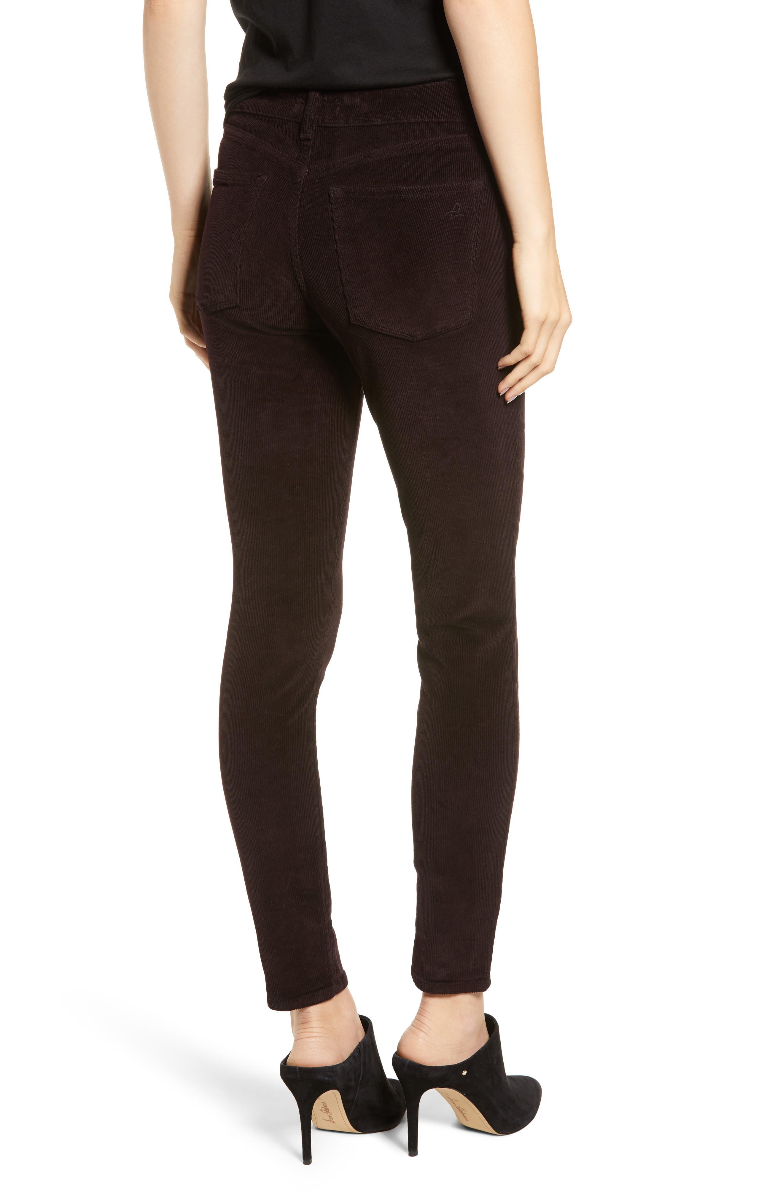 Farrow High Waist Ankle Skinny Corduroy Pants,                             Alternate thumbnail 2, color,                             BIRCH LAKE