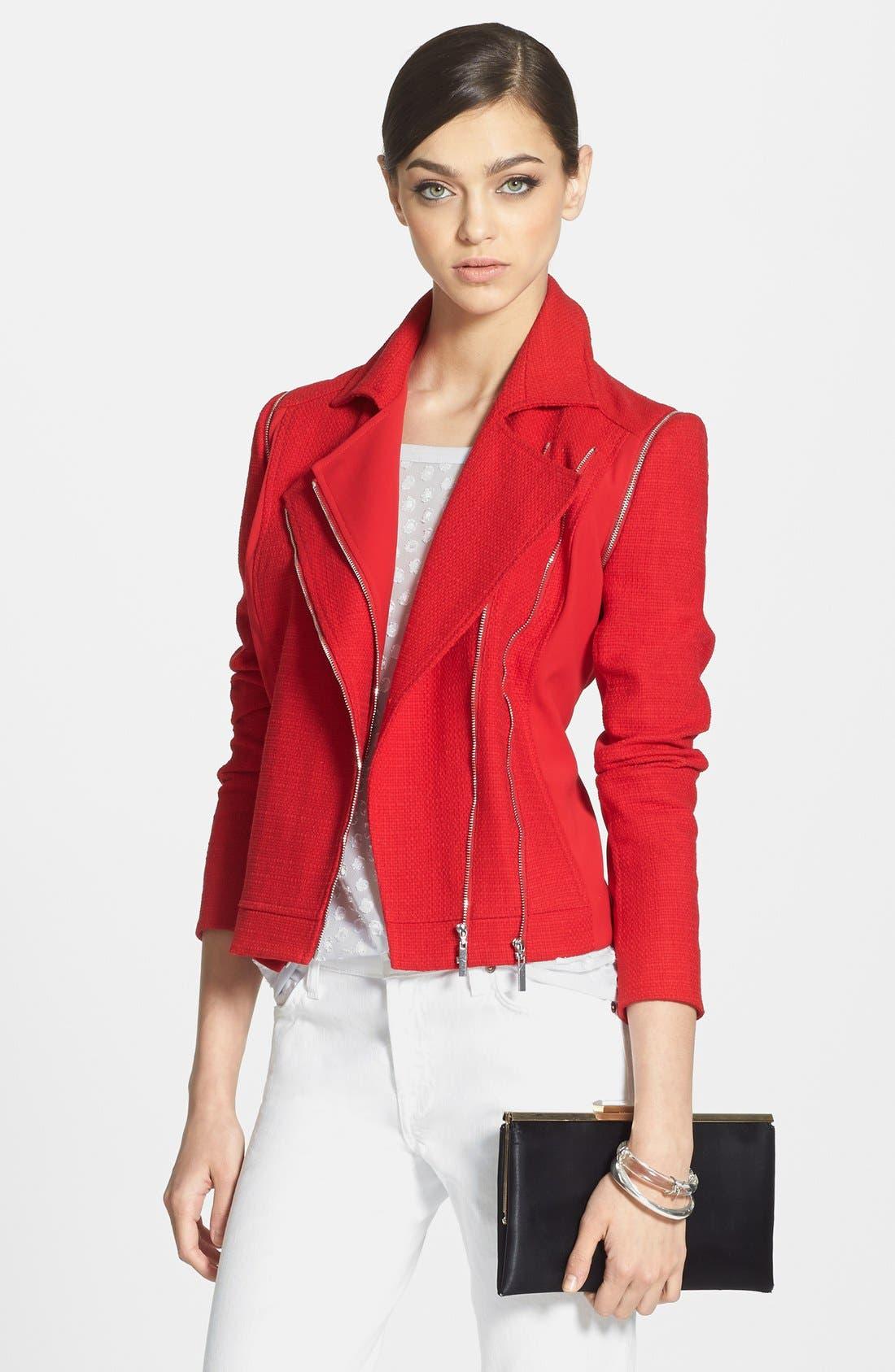 1.STATE Convertible Tweed Moto Jacket, Main, color, 632