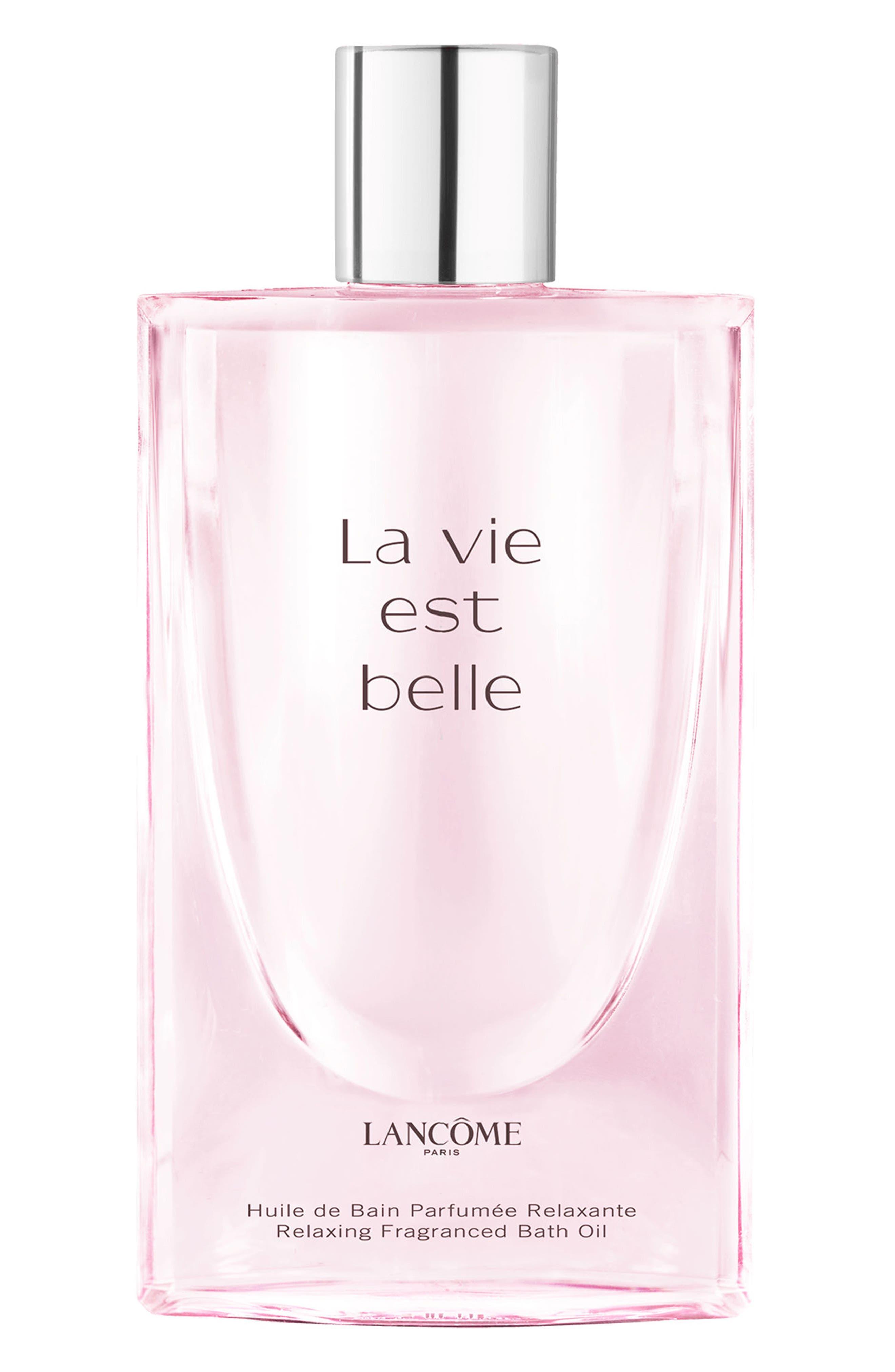 La Vie est Belle Relaxing Fragrance Bath Oil,                             Main thumbnail 1, color,                             NO COLOR