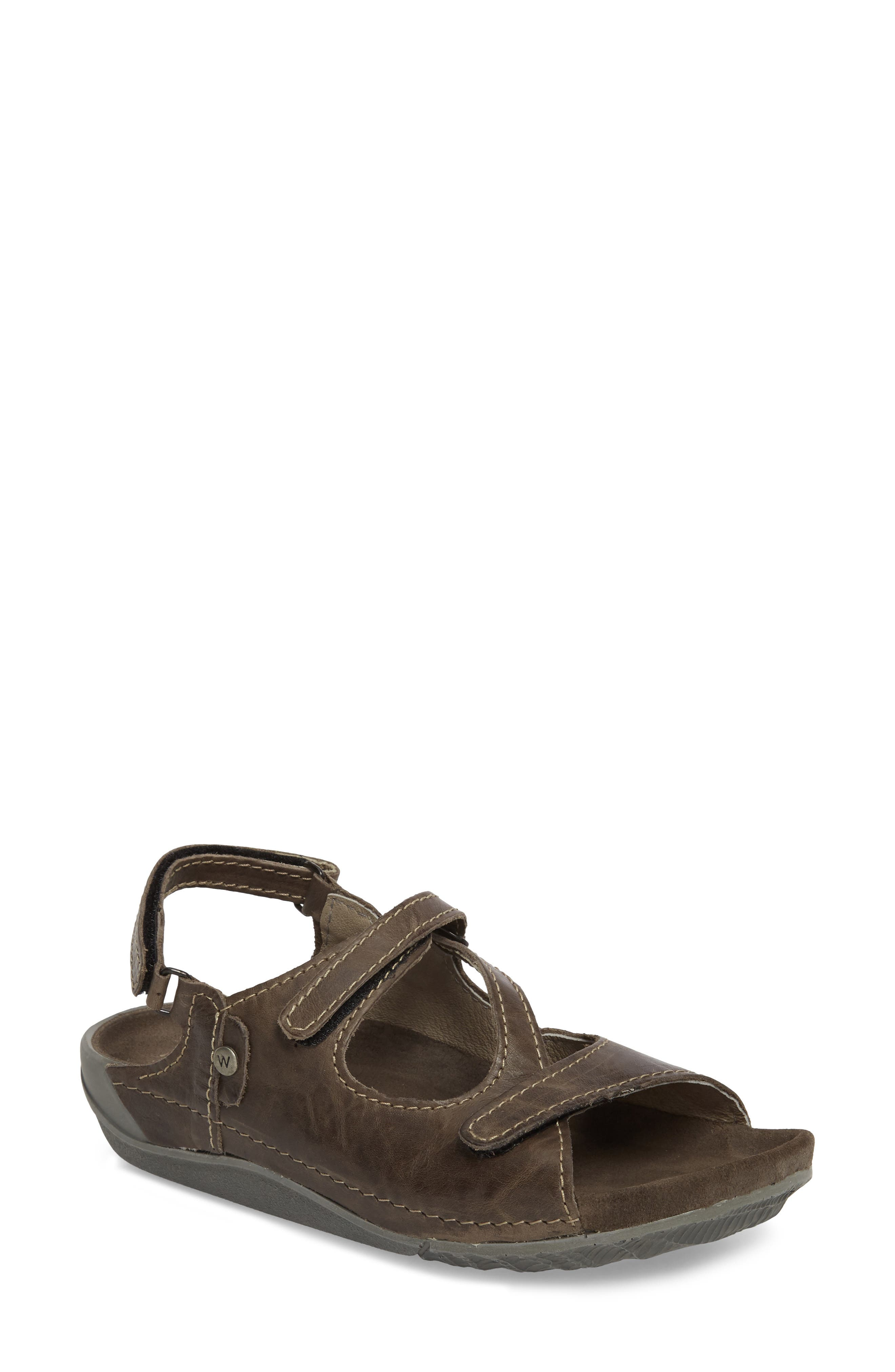 WOLKY Leif Sandal, Main, color, SLATE LEATHER