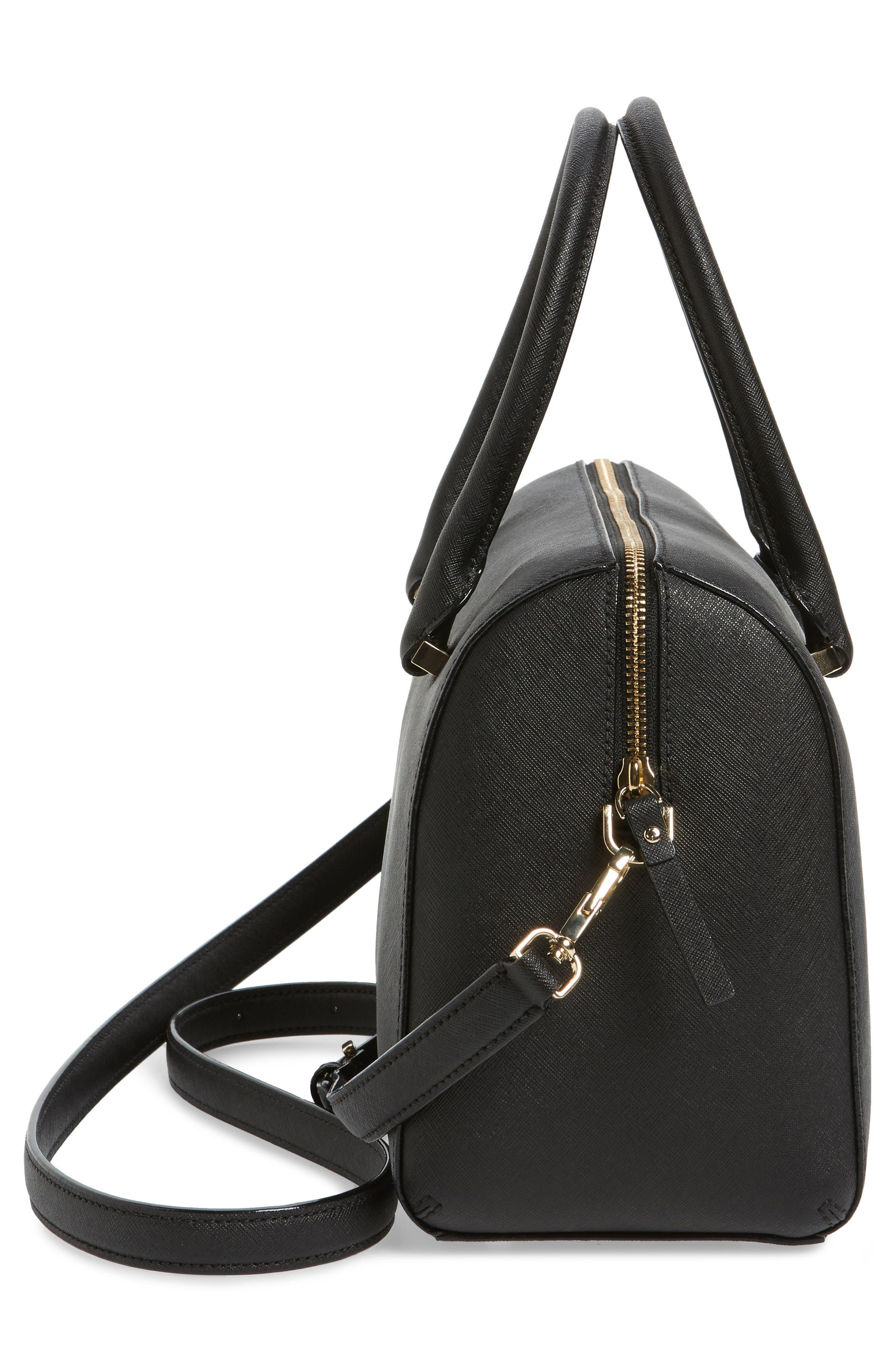 mega cameron street - lane leather satchel,                             Alternate thumbnail 5, color,                             001