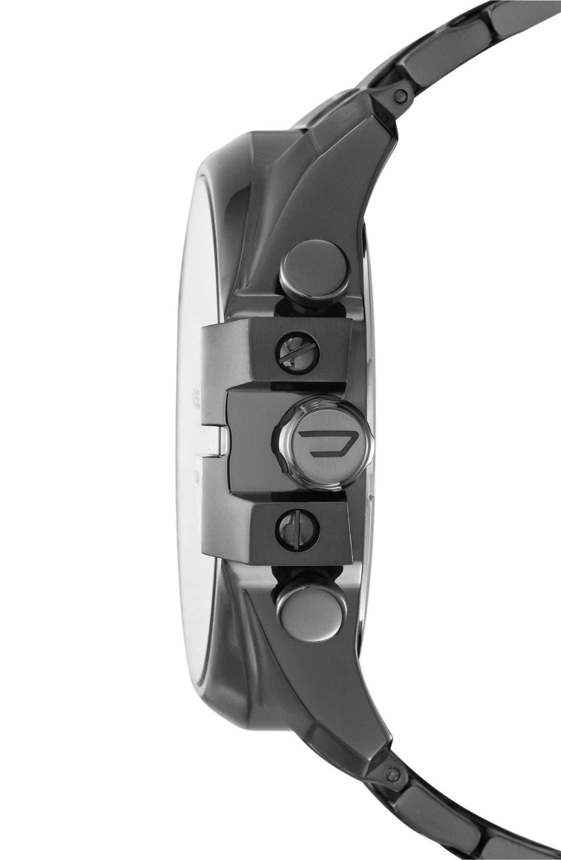 'Mega Chief' Bracelet Watch, 51mm,                             Alternate thumbnail 2, color,                             GUNMETAL