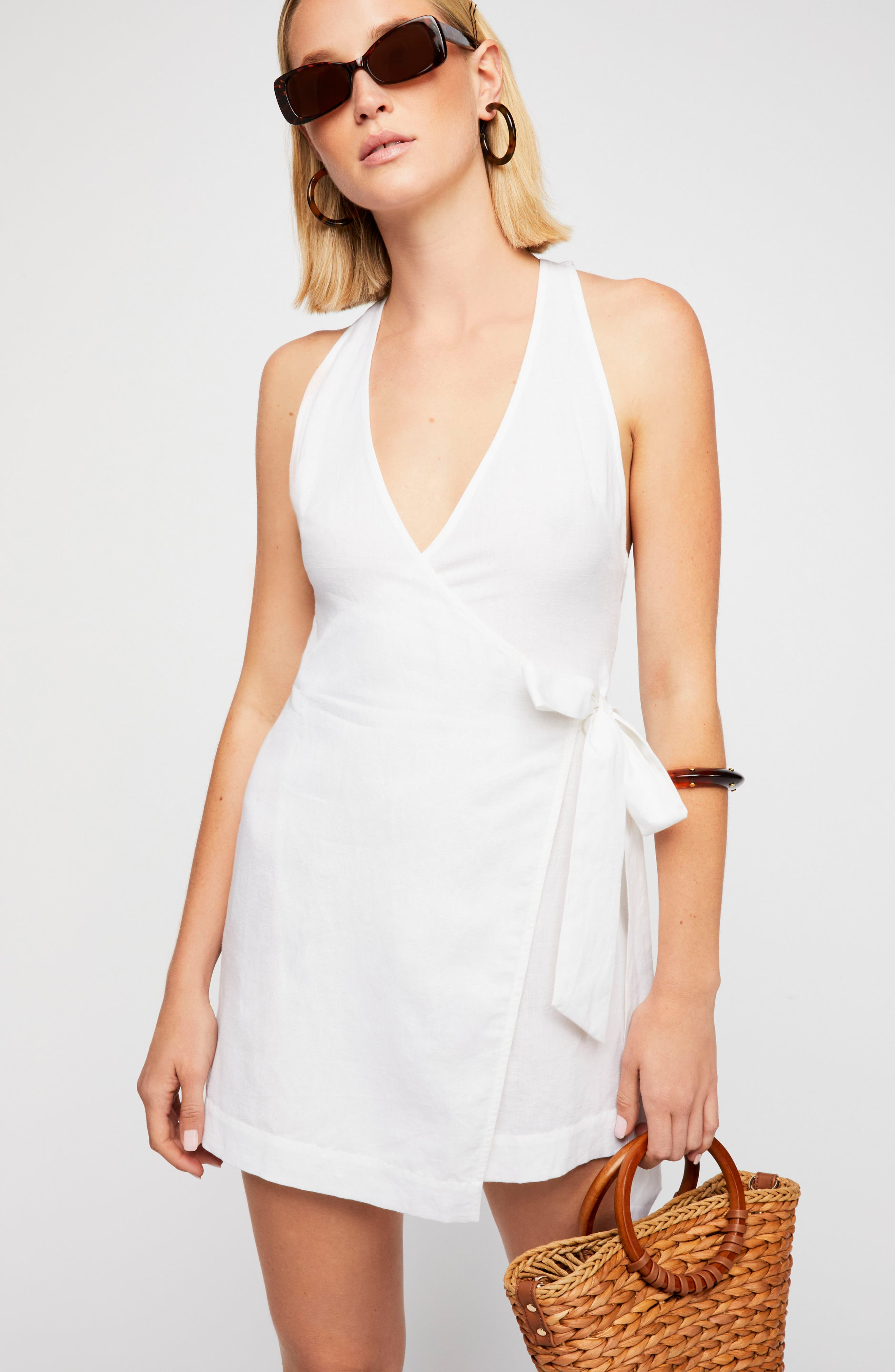 Endless Summer by Free People Fine Lines Minidress,                             Alternate thumbnail 4, color,                             100