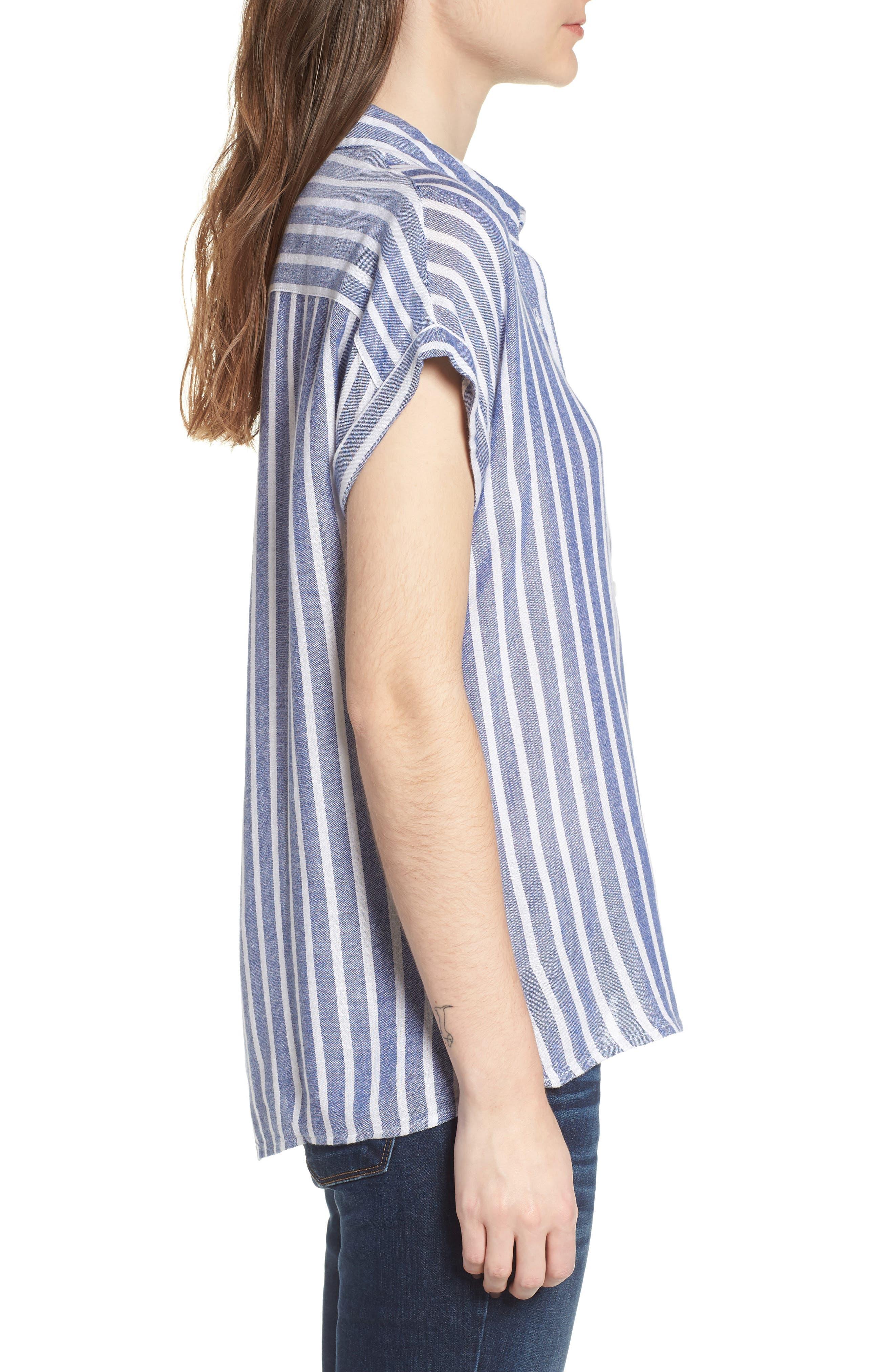 Benji Stripe Shirt,                             Alternate thumbnail 3, color,                             400
