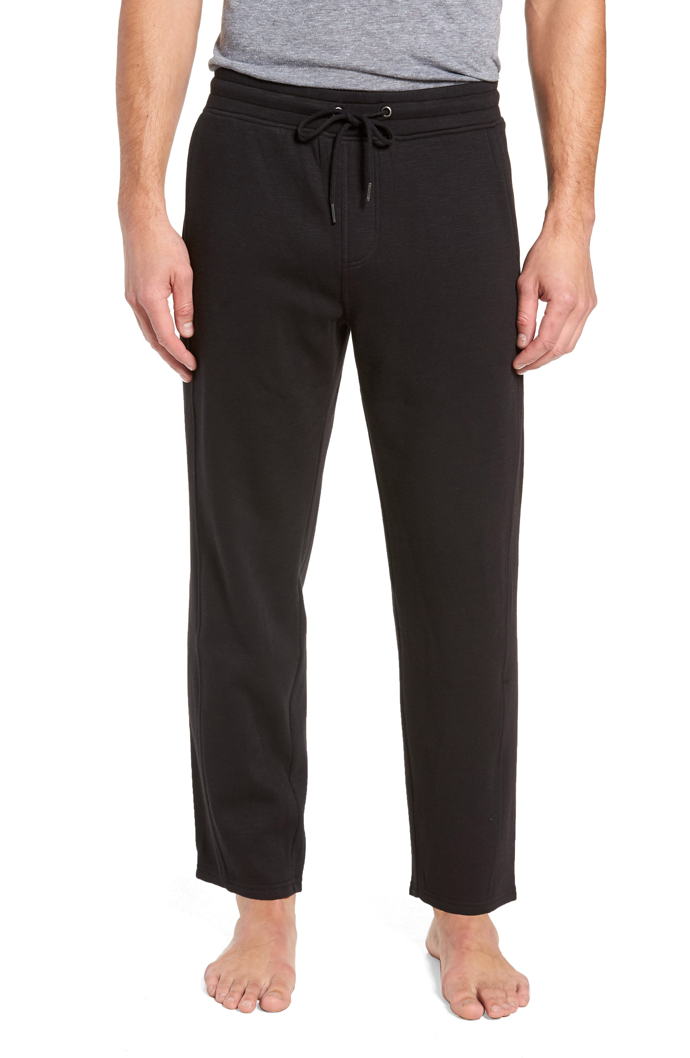 French Terry Moto Pants,                         Main,                         color, BLACK HEATHER