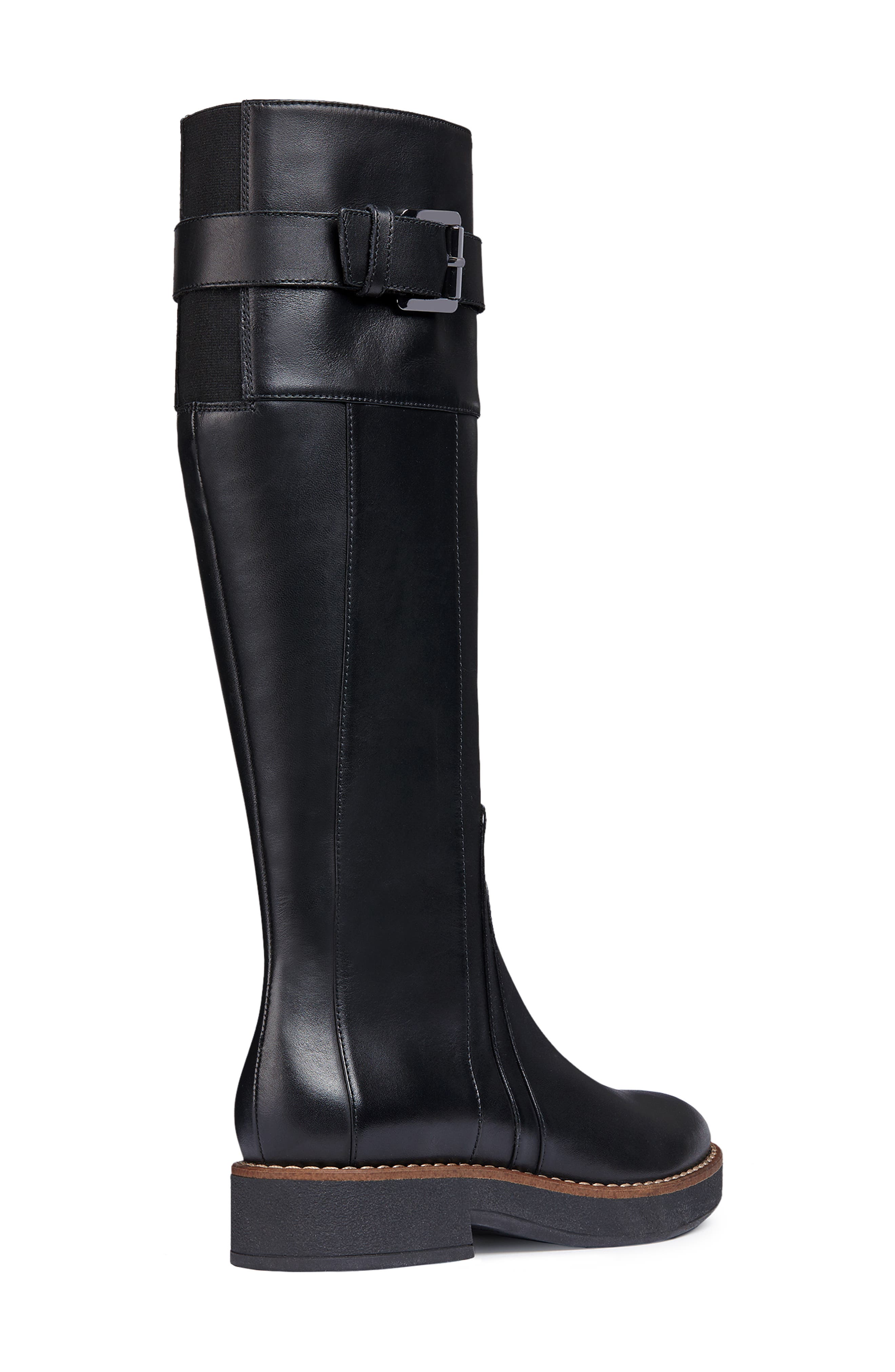 Adrya Knee High Boot,                             Alternate thumbnail 7, color,                             BLACK LEATHER