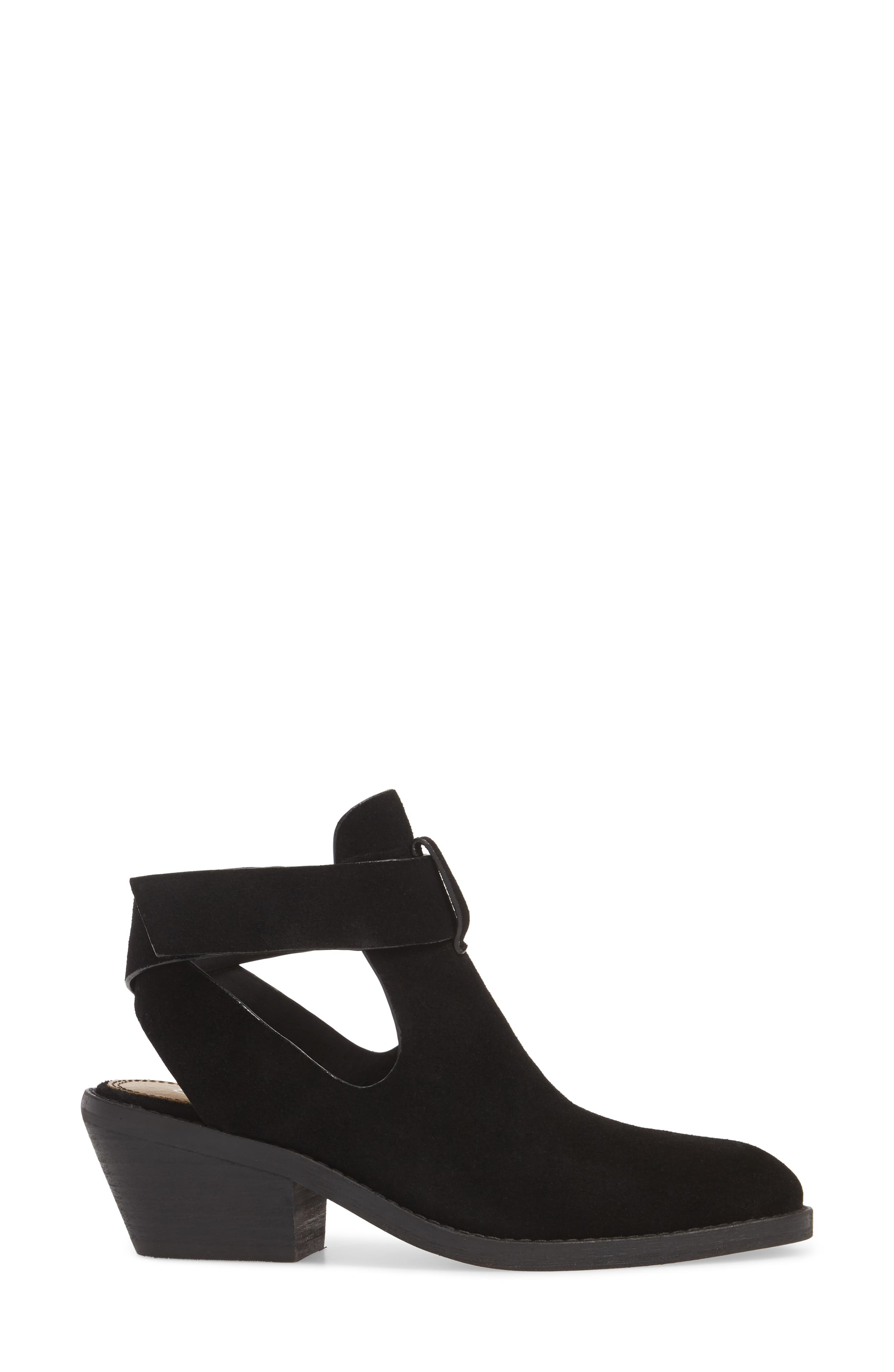 Cadell Bootie,                             Alternate thumbnail 3, color,                             BLACK SUEDE