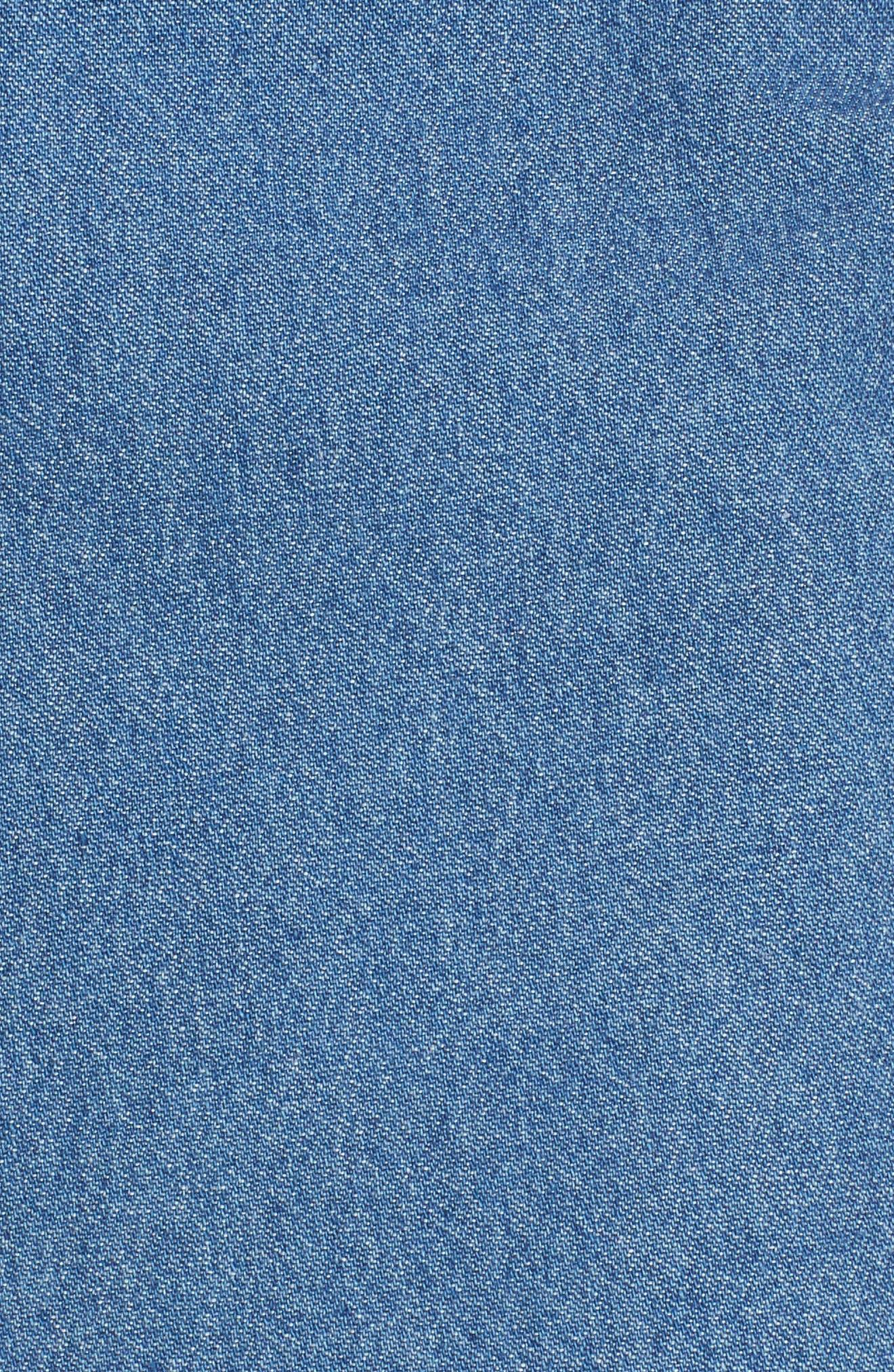 Ruffle Denim Miniskirt,                             Alternate thumbnail 5, color,                             459