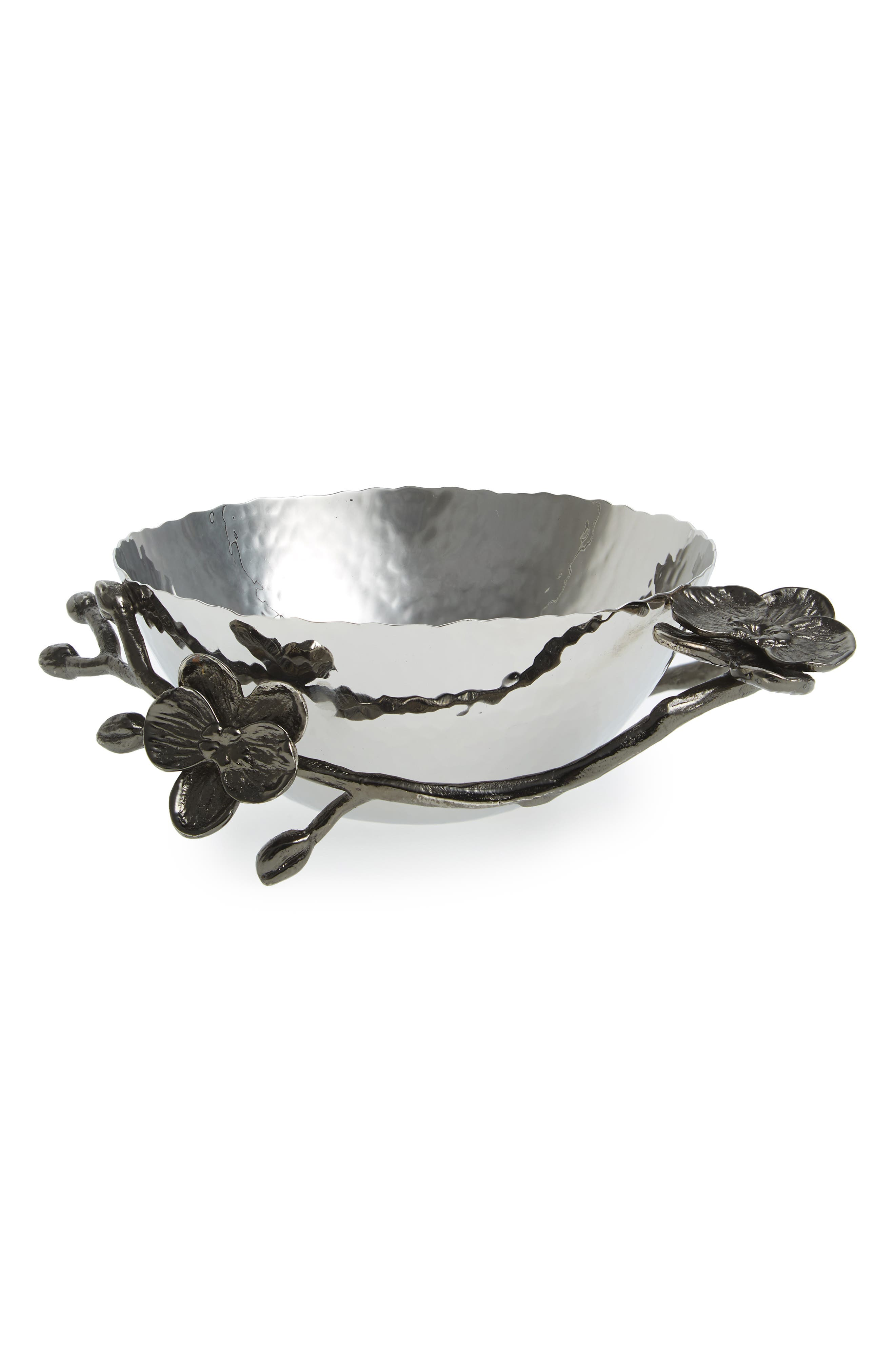 MICHAEL ARAM 'Black Orchid' Nut Bowl, Main, color, Black Nickel