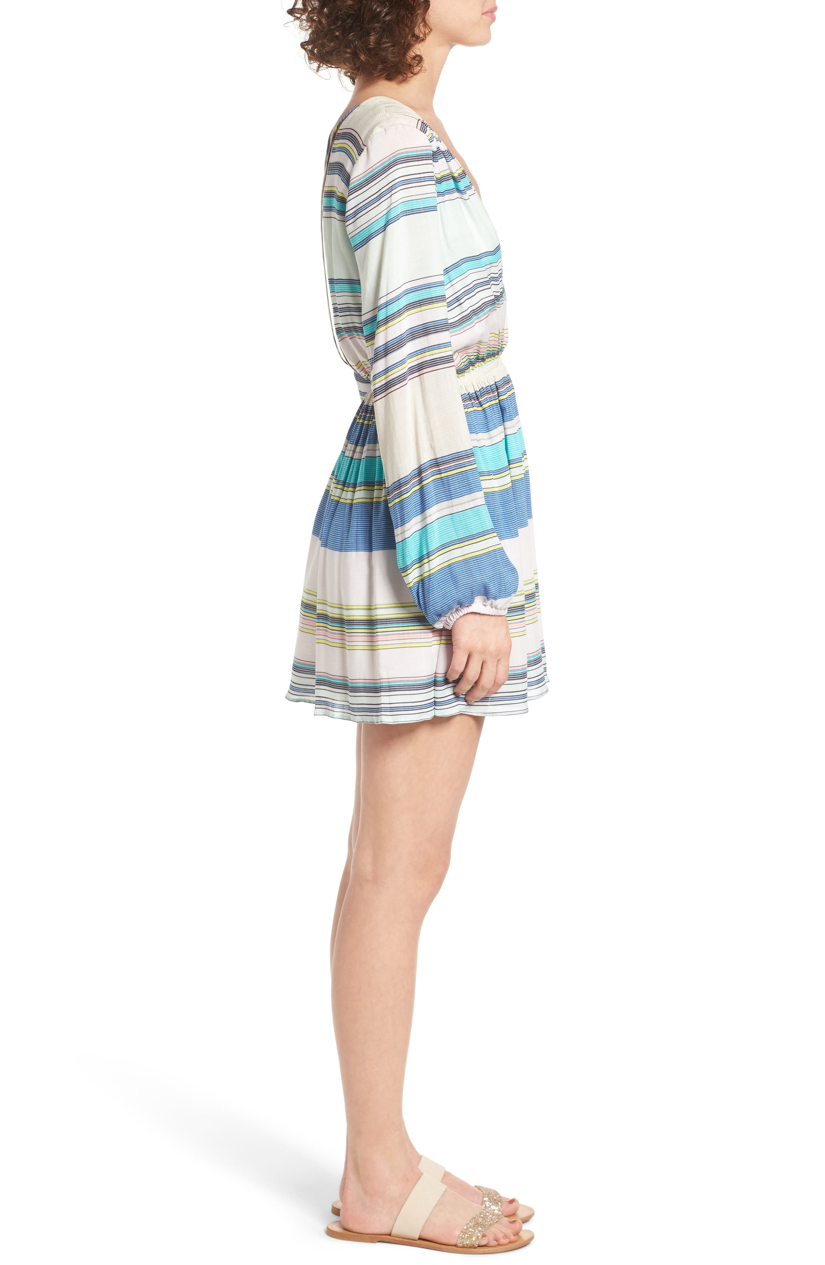 Whitney Stripe Dress,                             Alternate thumbnail 3, color,                             460