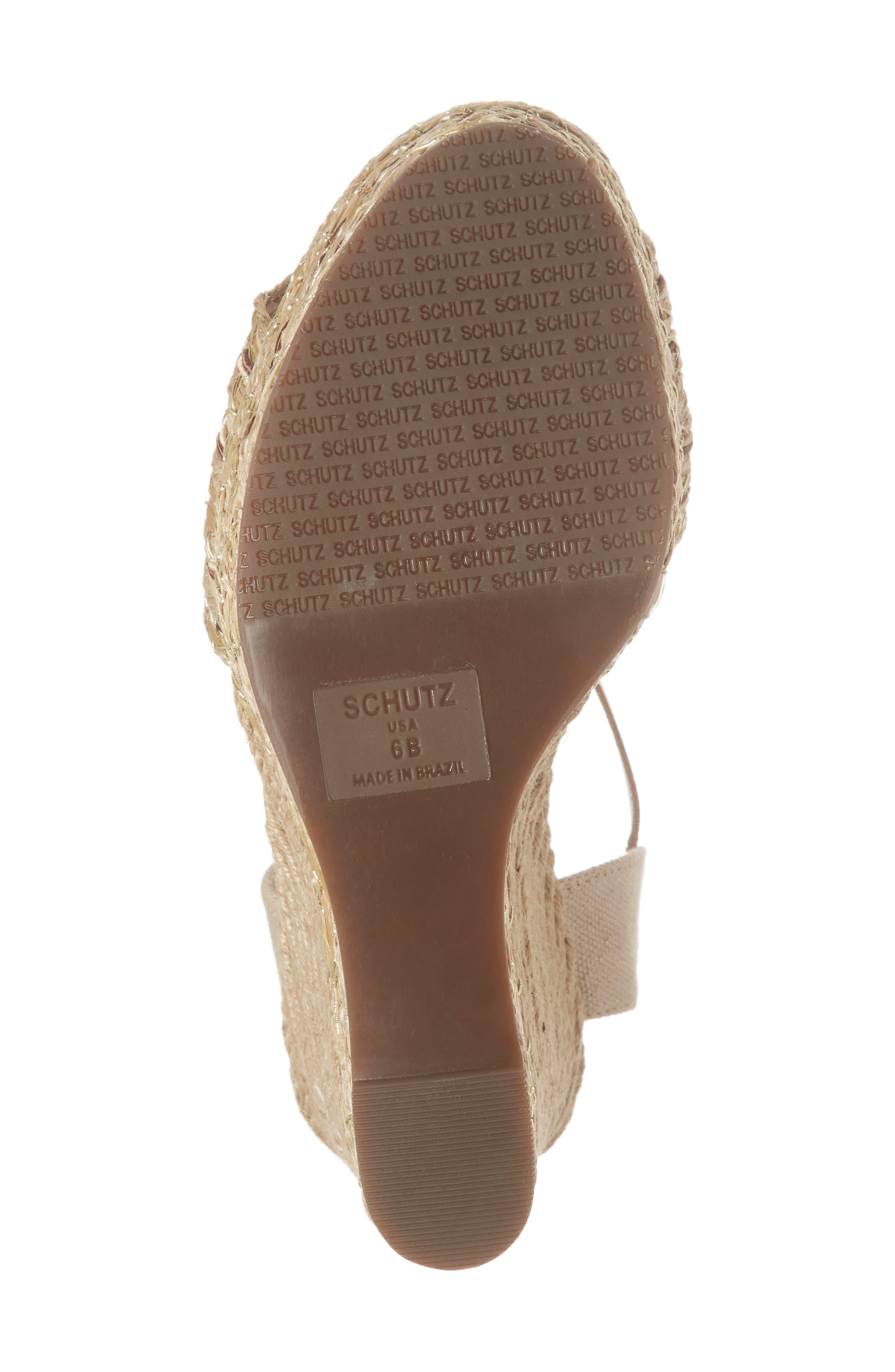 Rilark Platform Wedge Sandal,                             Alternate thumbnail 6, color,                             COCO FABRIC