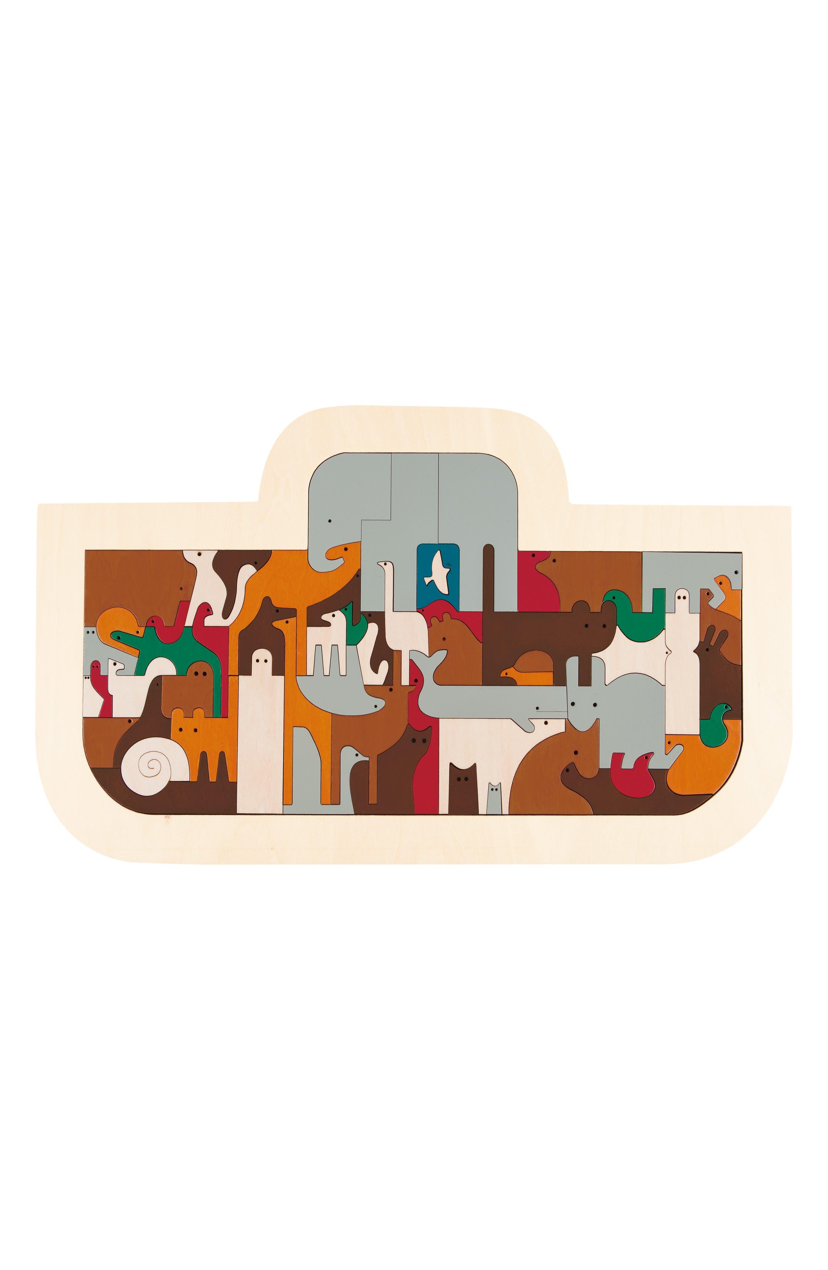 Noah's Ark Wooden Puzzle,                             Main thumbnail 1, color,                             200