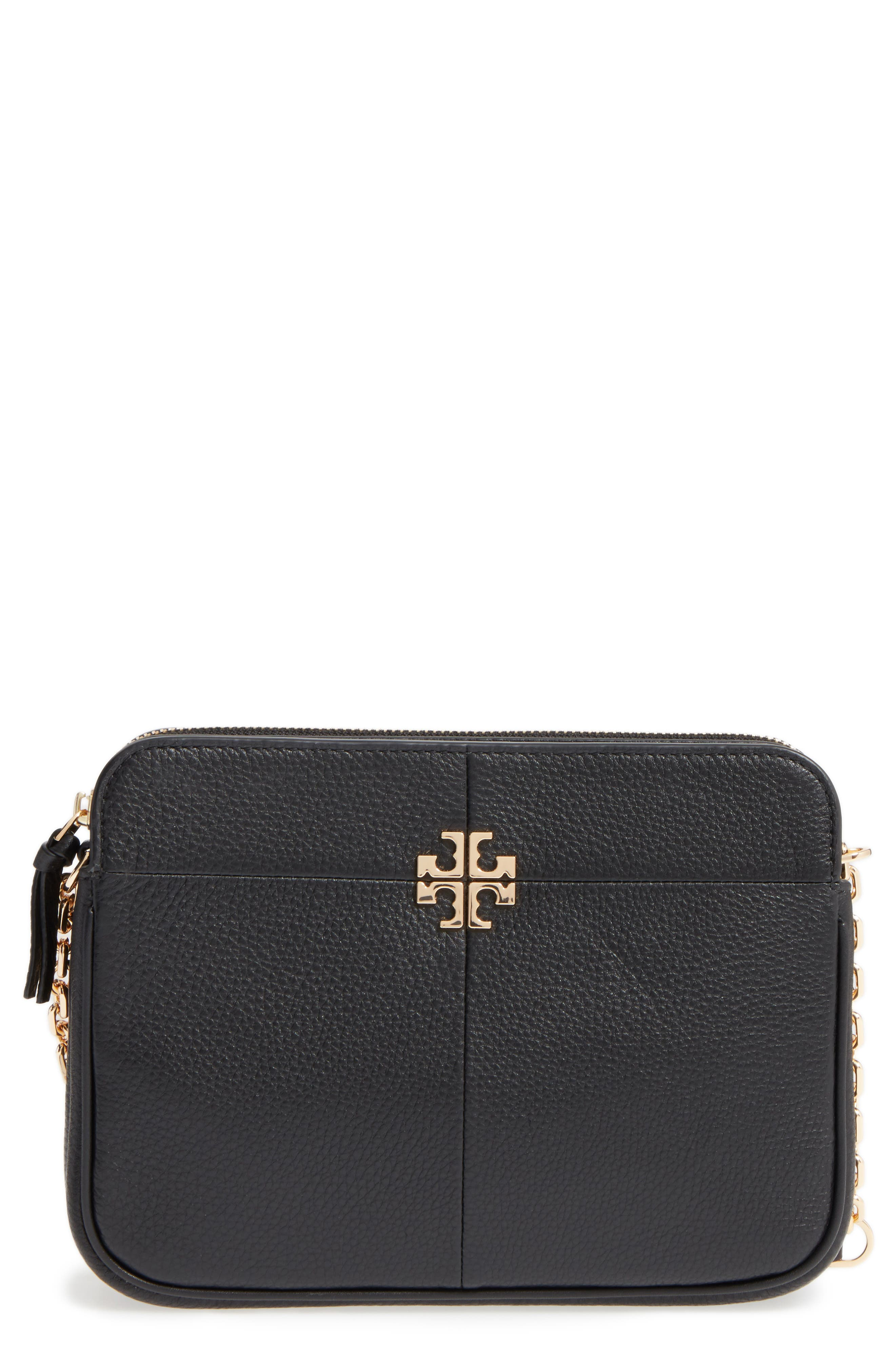 Ivy Leather Crossbody Bag, Main, color, 001