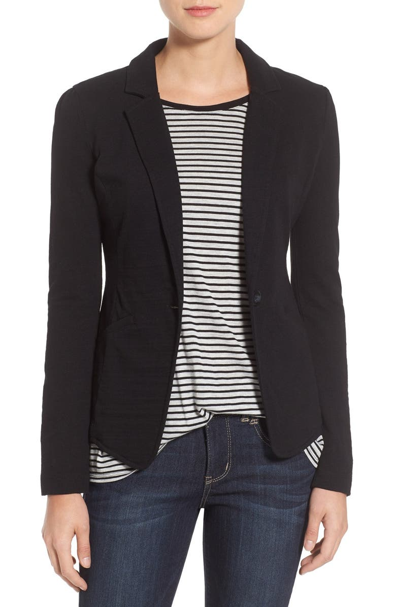 Knit One-Button Blazer | Nordstrom
