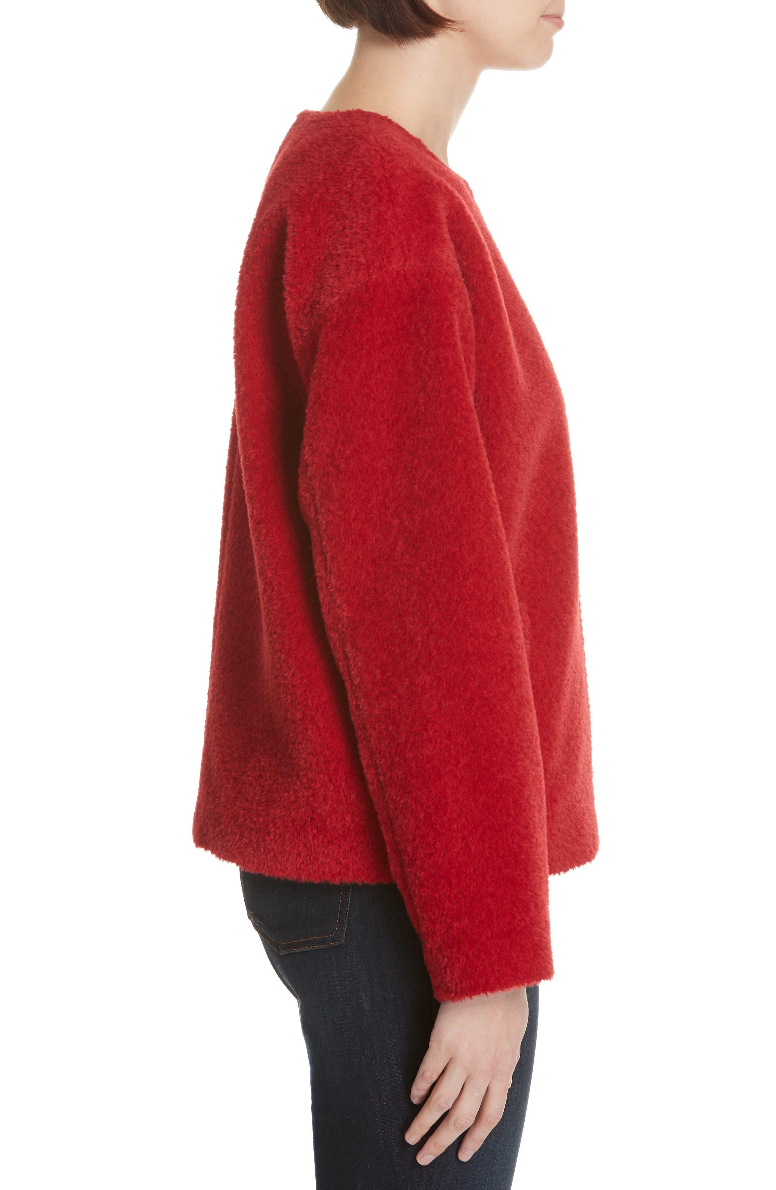 Wool & Alpaca Blend Jacket,                             Alternate thumbnail 3, color,                             LACQUER
