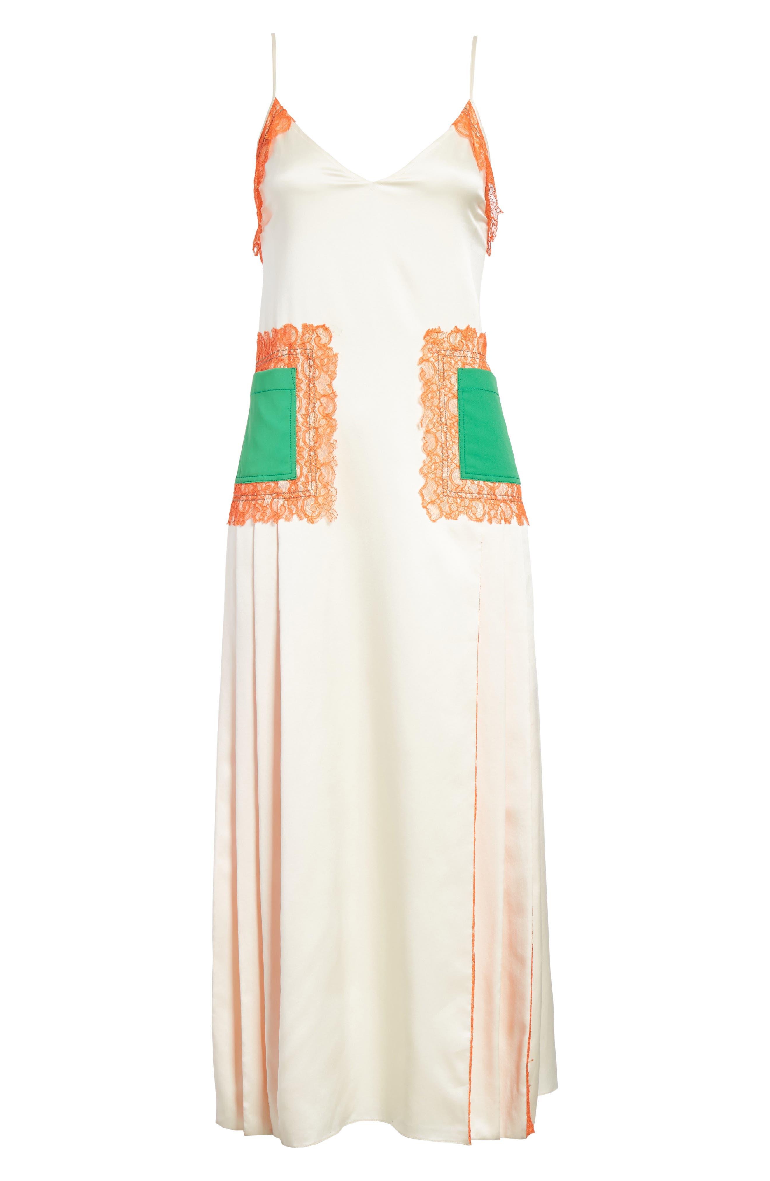 Claire Silk Midi Dress,                             Alternate thumbnail 7, color,                             104
