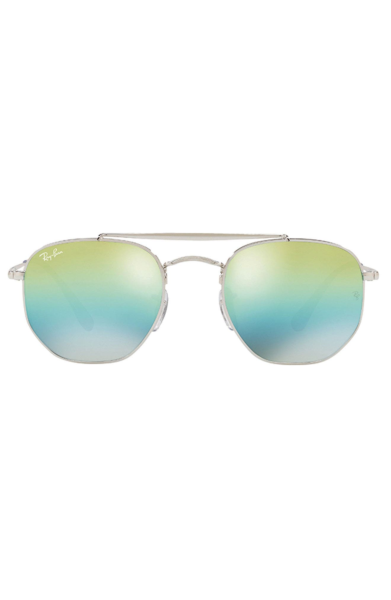 Marshal 54mm Aviator Sunglasses,                             Alternate thumbnail 2, color,                             BLUE/ GREEN