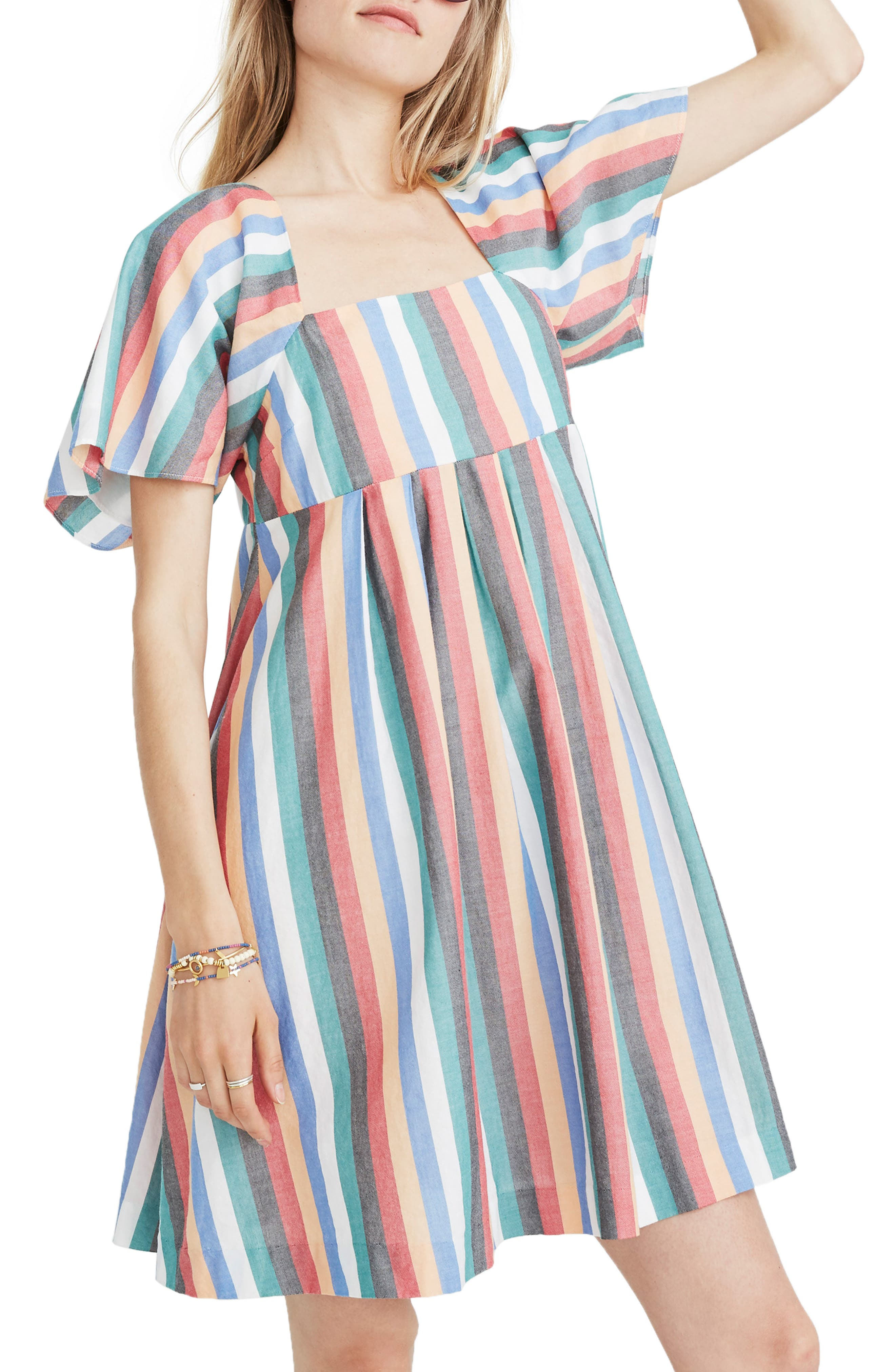 Square Neck Minidress,                         Main,                         color, 400