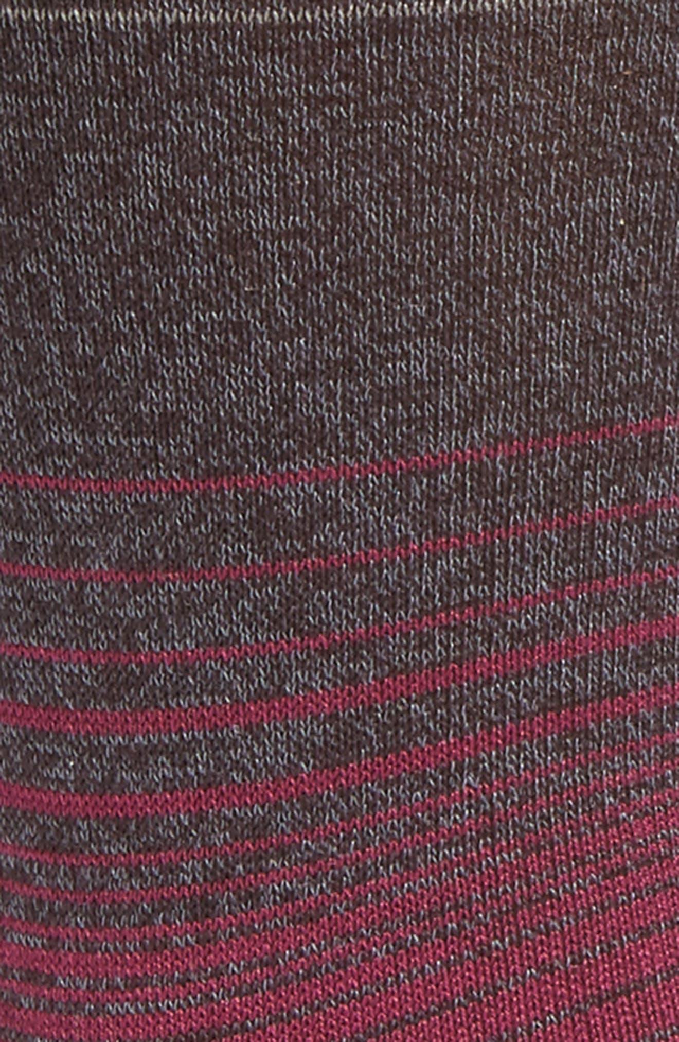 Ombré Stripes Crew Socks,                             Alternate thumbnail 7, color,