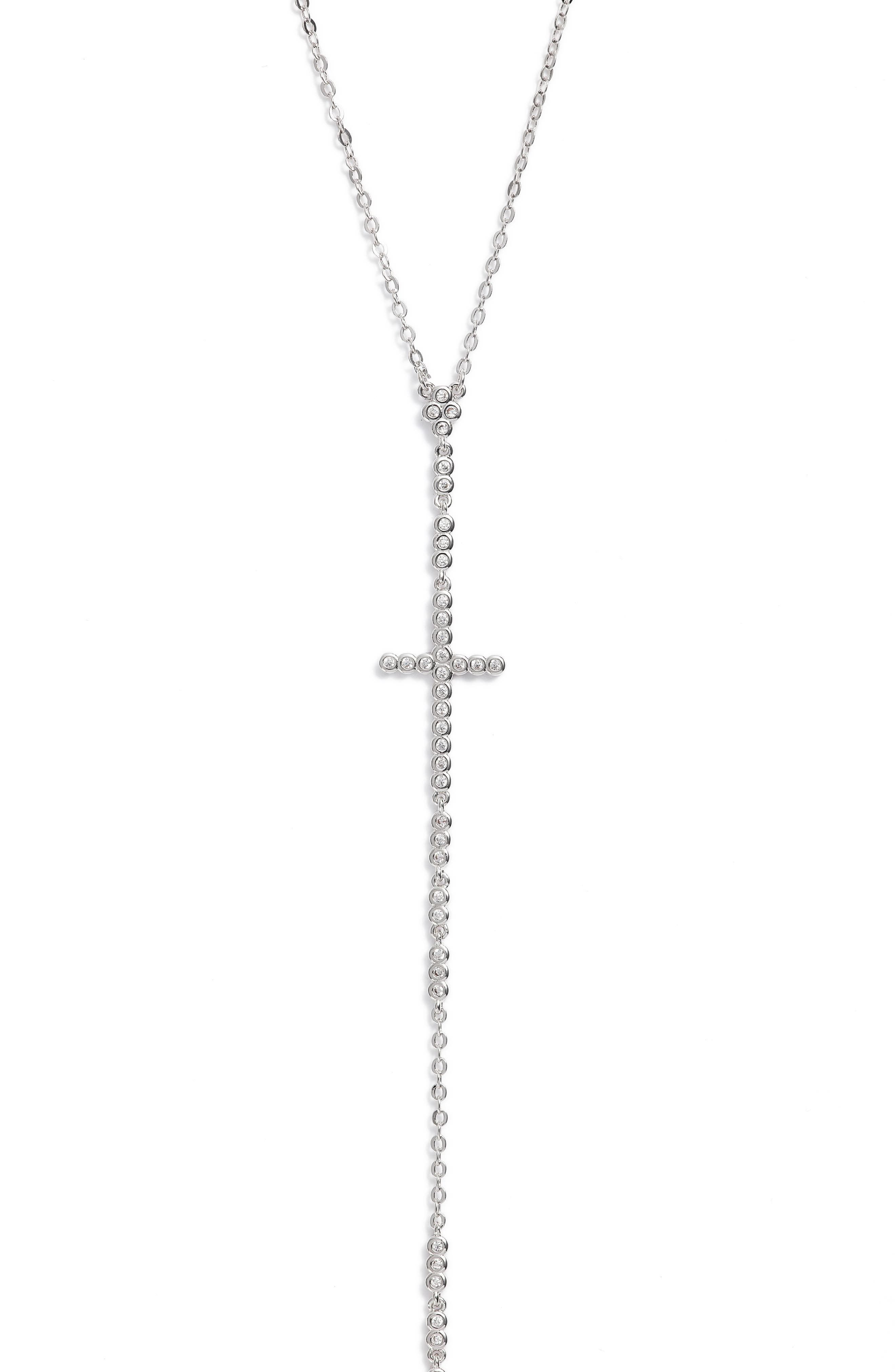 Crystal Y-Necklace,                         Main,                         color, 041