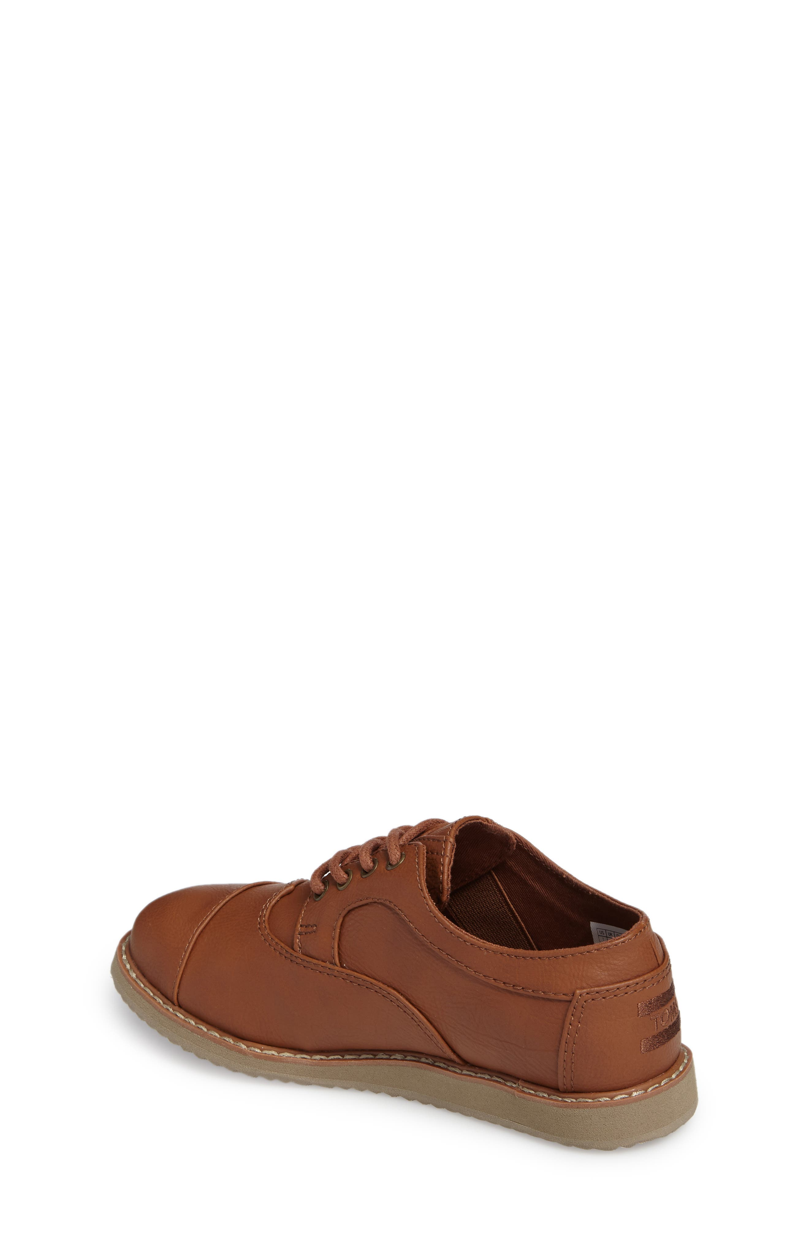 Brogue Cap Toe Wingtip Oxford,                             Alternate thumbnail 2, color,                             TOFFEE
