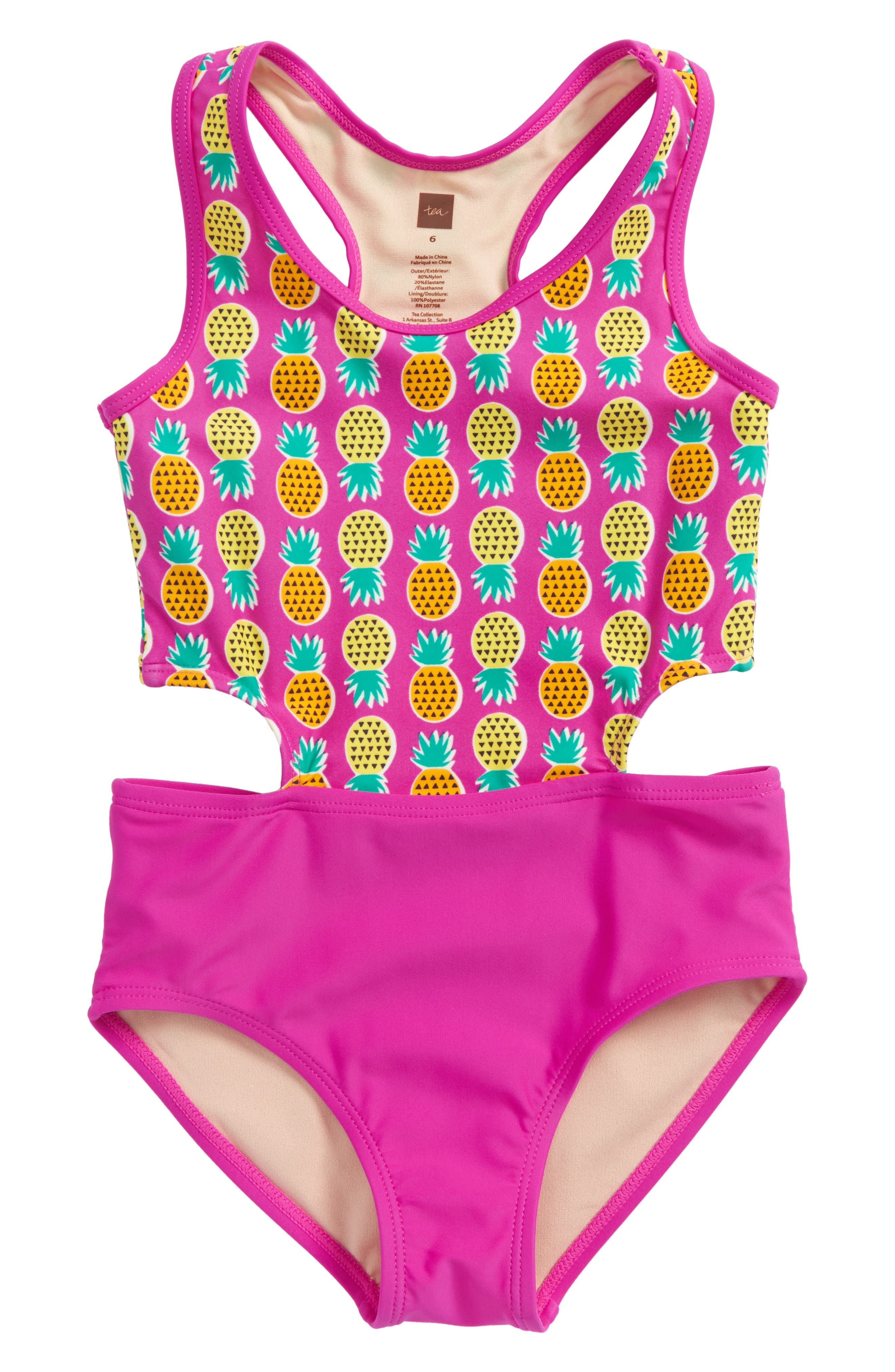 TEA COLLECTION,                             Cutout One-Piece Swimsuit,                             Main thumbnail 1, color,                             671