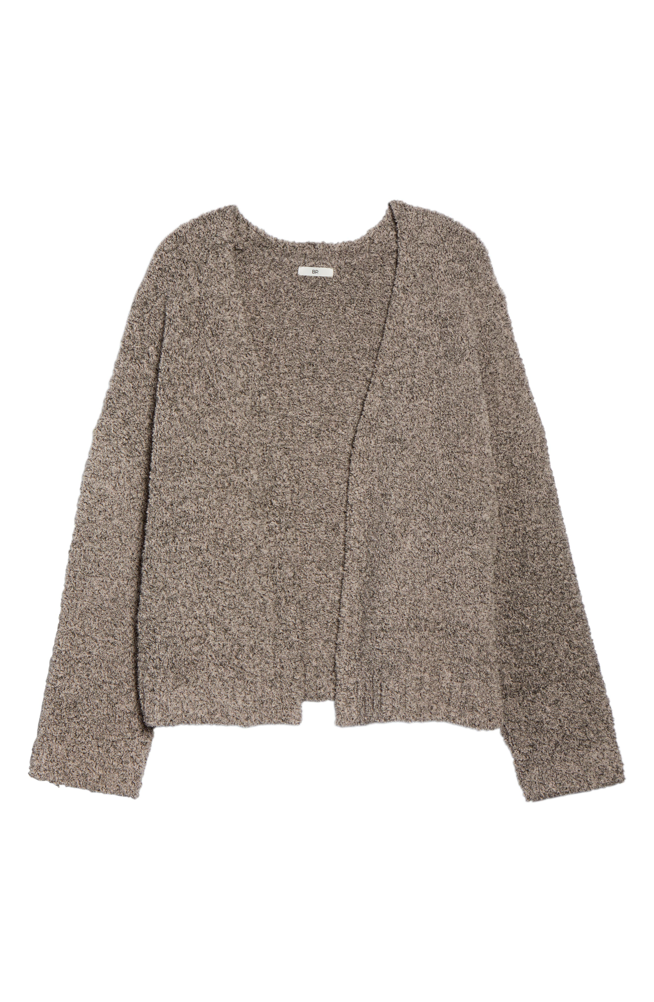 BP.,                             Fluffy Cardigan,                             Alternate thumbnail 6, color,                             PINK ADOBE COZY MARL