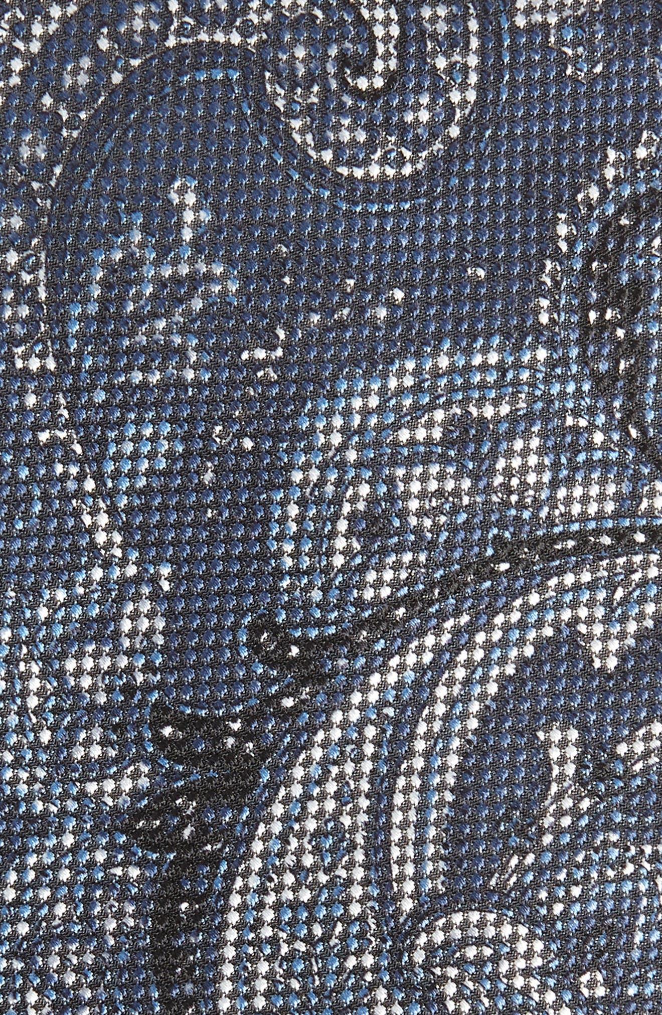 Paisley Silk Tie,                             Alternate thumbnail 2, color,                             BLUE/ GREY