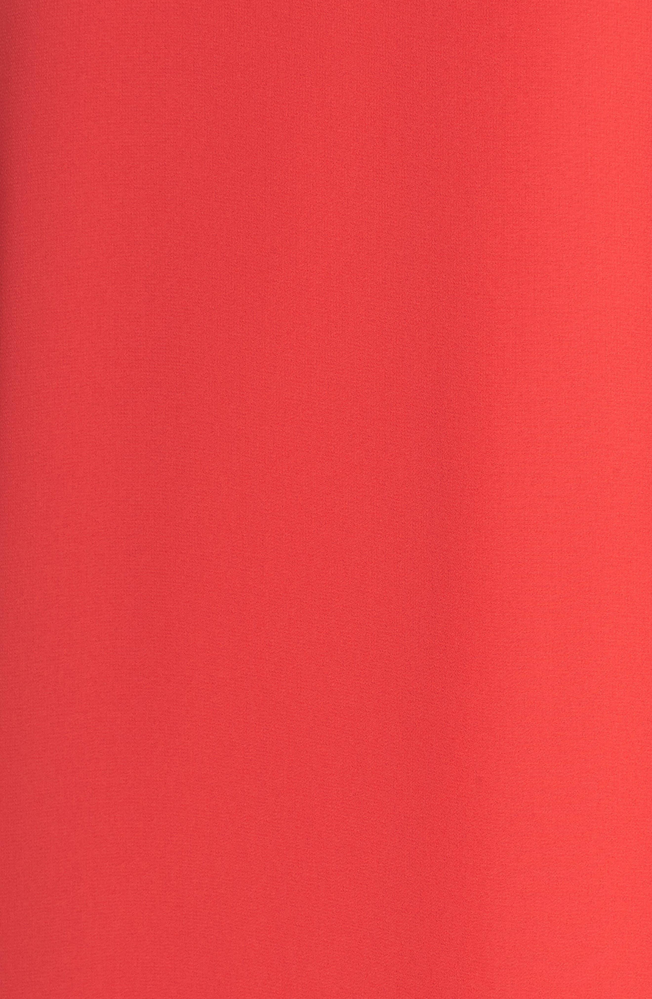 Soufflé One-Shoulder Chiffon Shift Dress,                             Alternate thumbnail 6, color,                             652