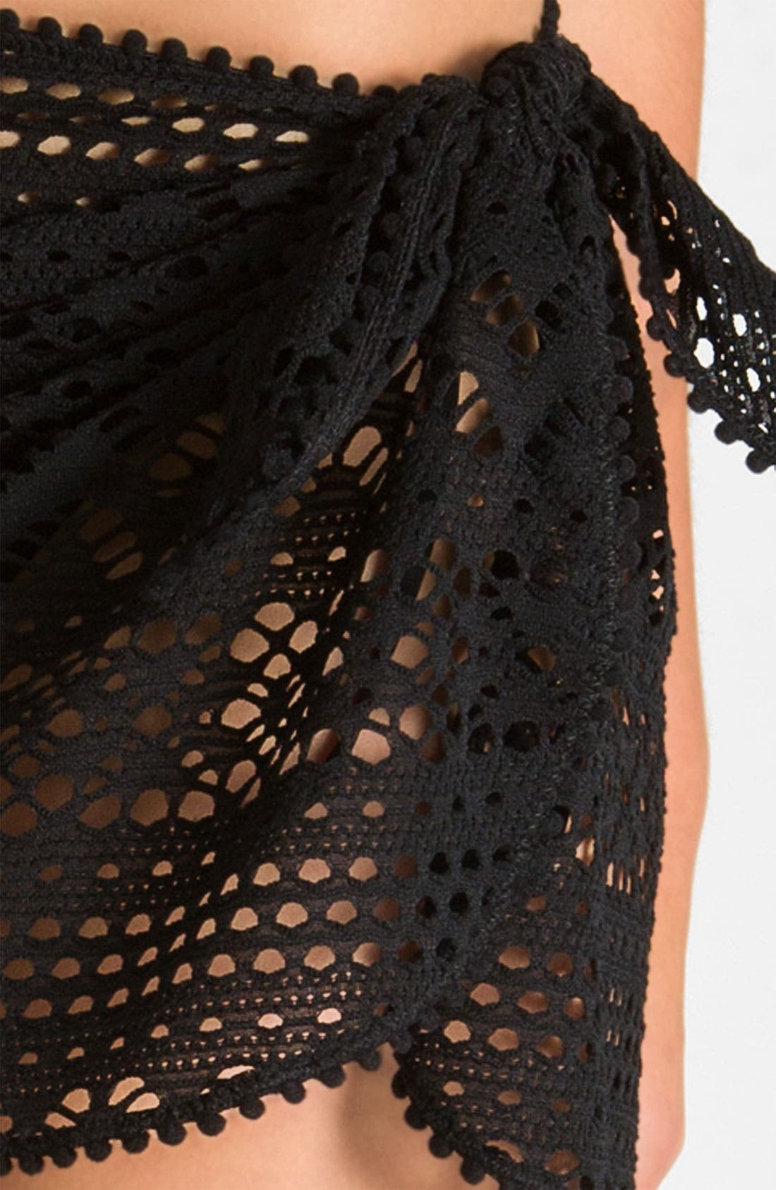 'Penelope' Crochet Pareo,                             Alternate thumbnail 2, color,                             001