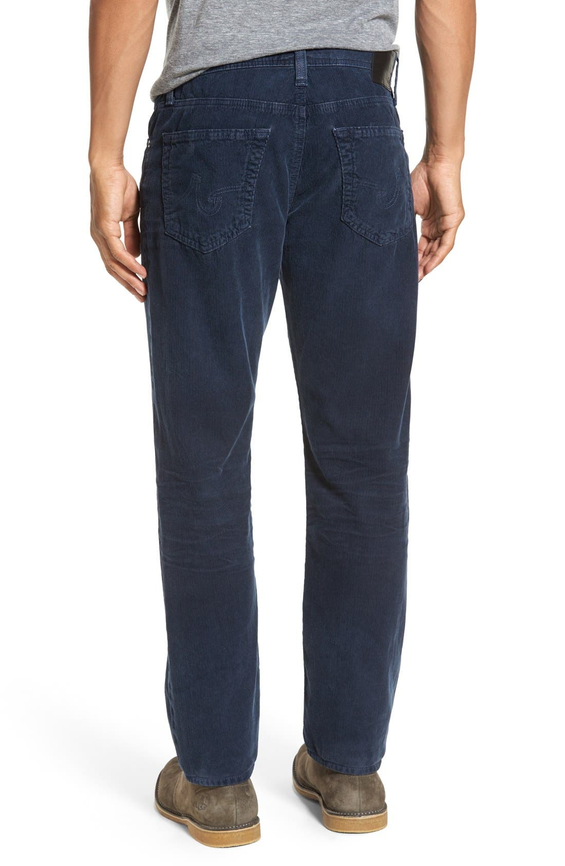 'Graduate' Tailored Straight Leg Corduroy Pants,                             Alternate thumbnail 30, color,