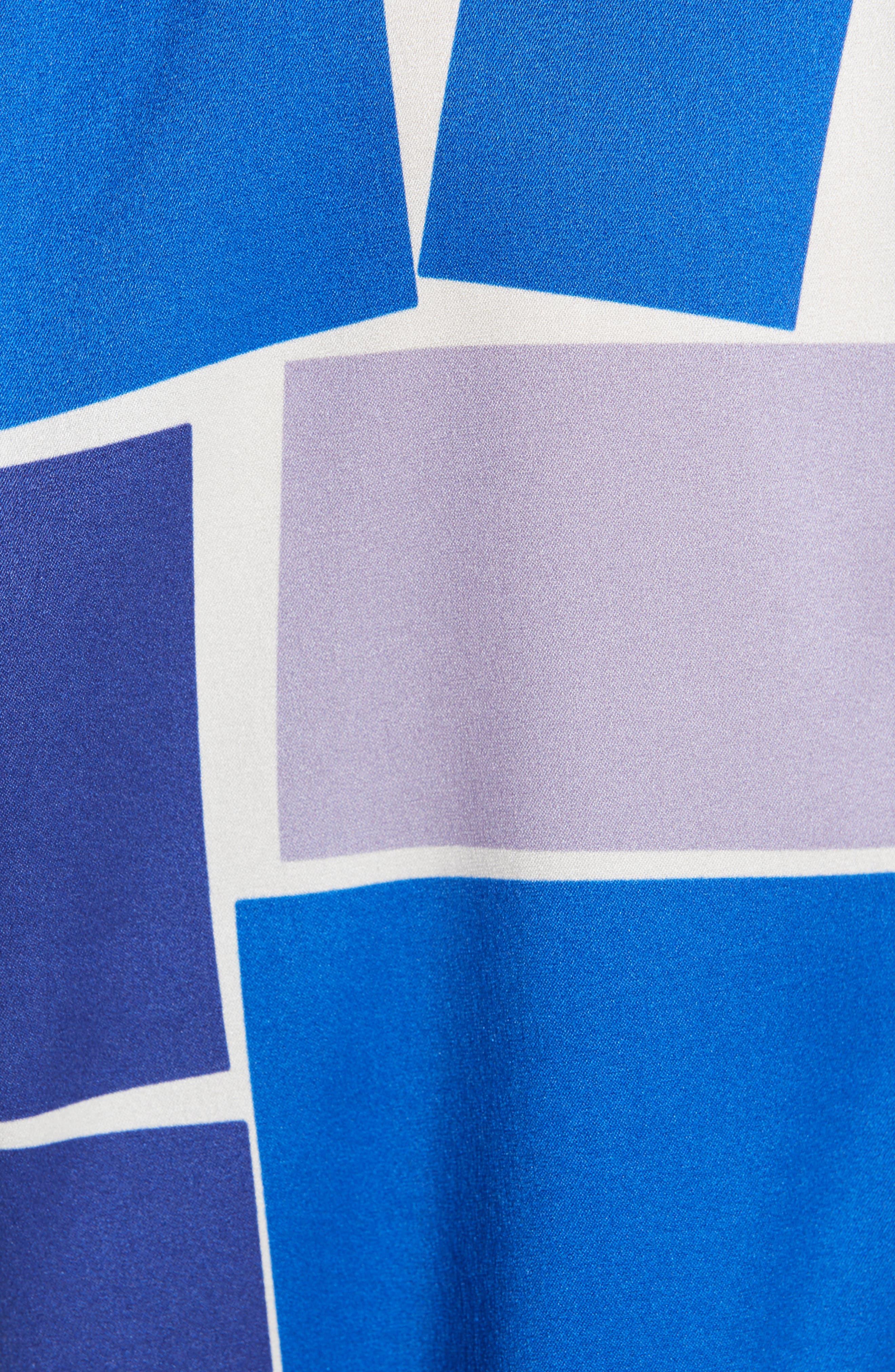 ZERO + MARIA CORNEJO,                             Jazmin Print Stretch Silk Shirt,                             Alternate thumbnail 6, color,                             DUSK MULTI